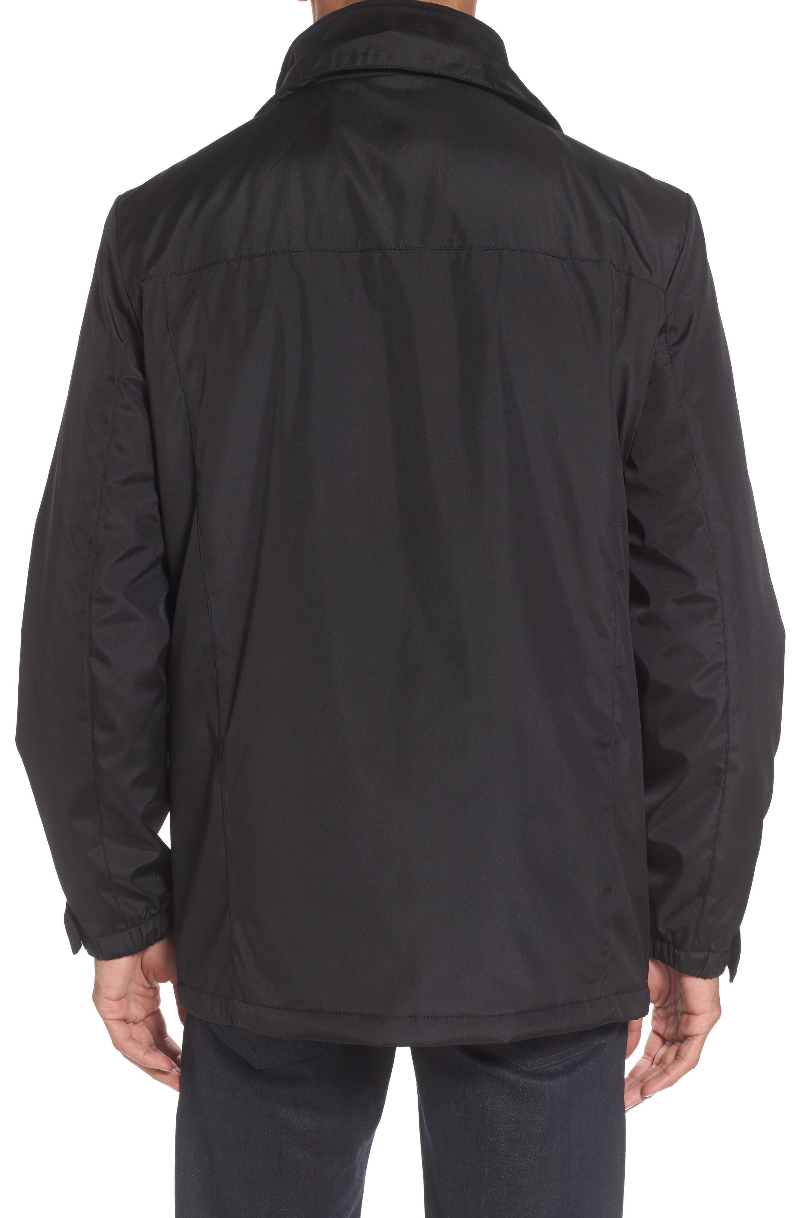 Hooded Jacket with Inset Fleece Bib,                             Alternate thumbnail 4, color,                             001