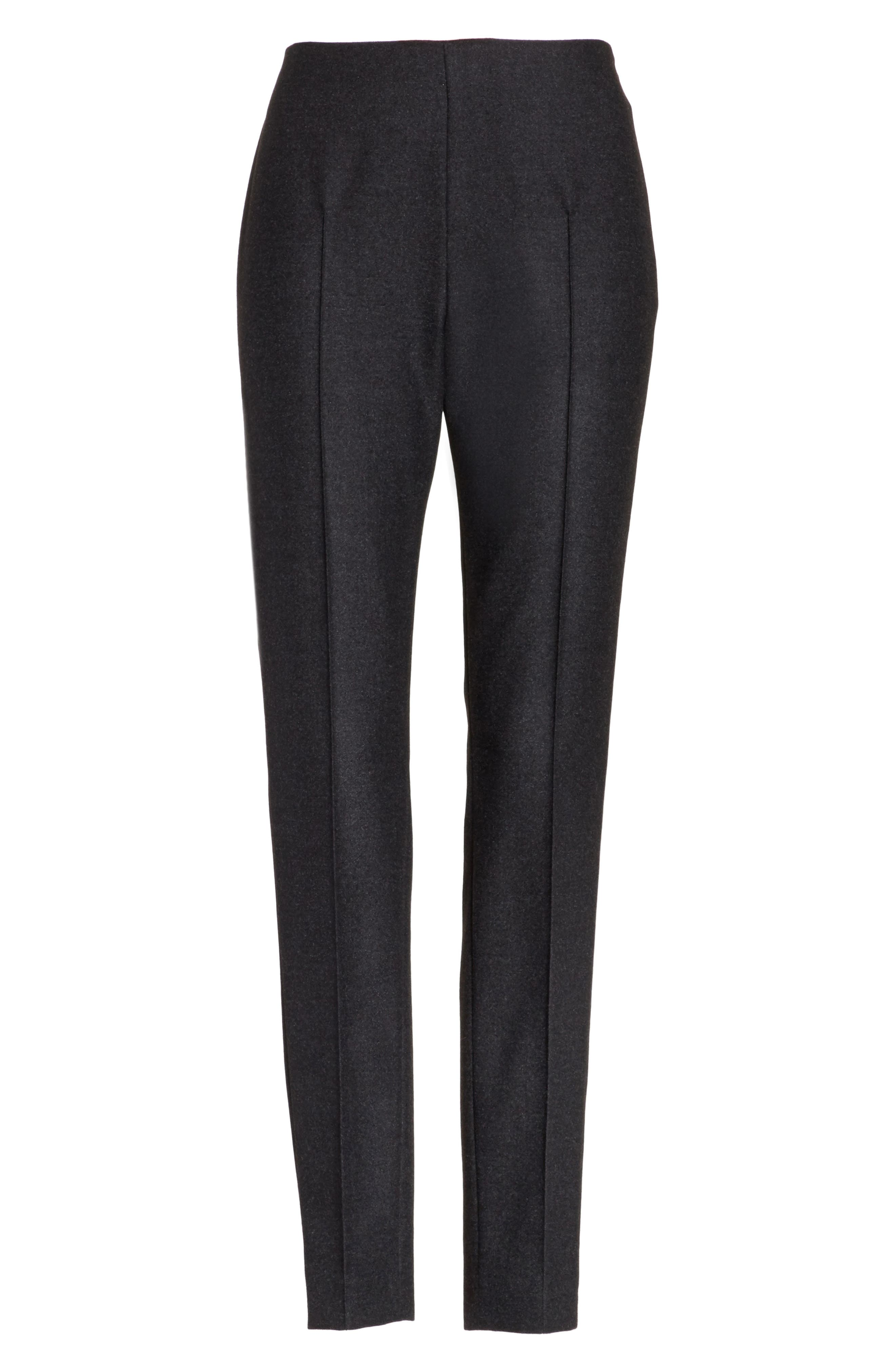 Melissa Stretch Wool Flannel Pants,                             Alternate thumbnail 6, color,                             098