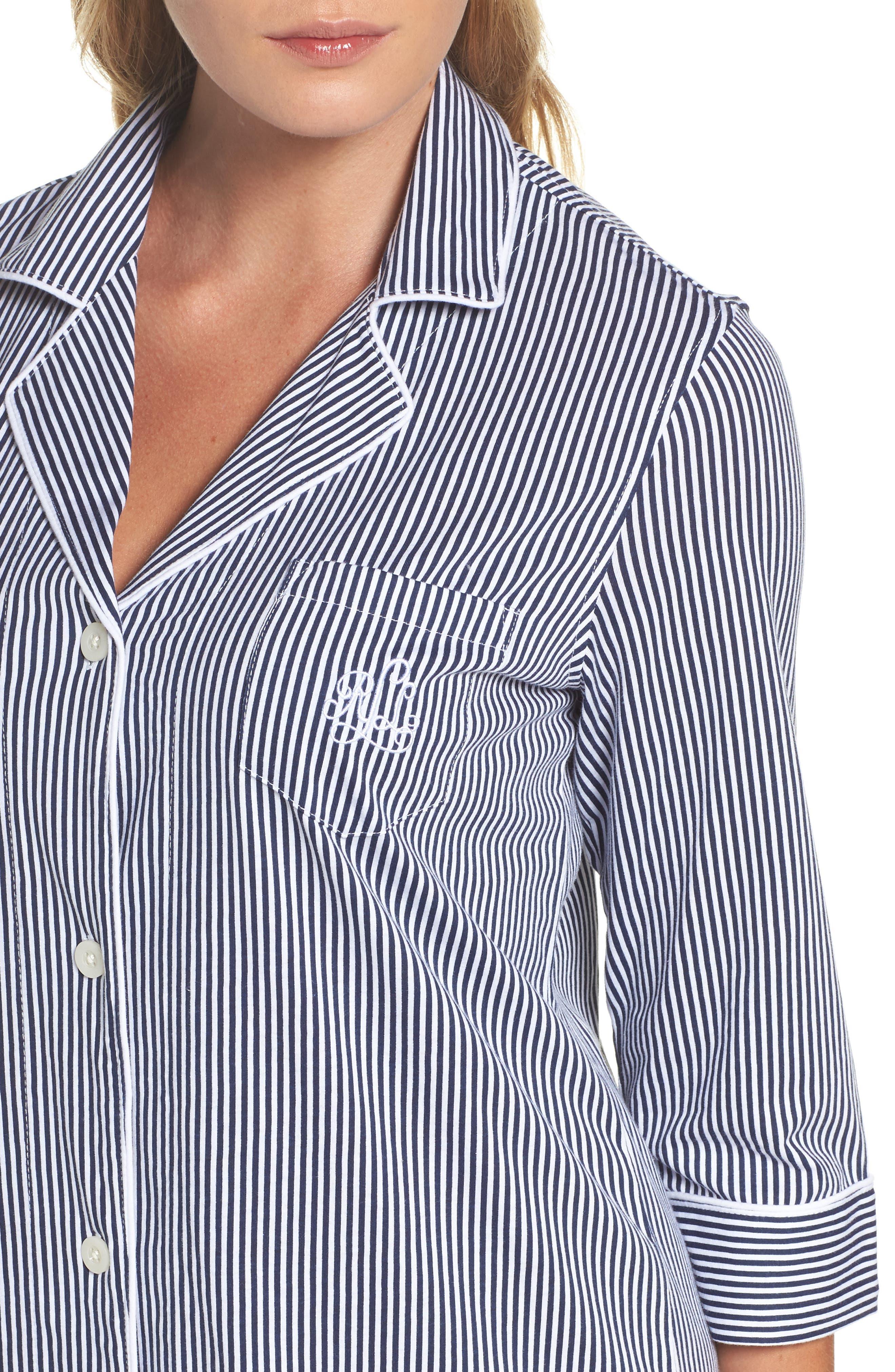 Jersey Sleep Shirt,                             Alternate thumbnail 32, color,