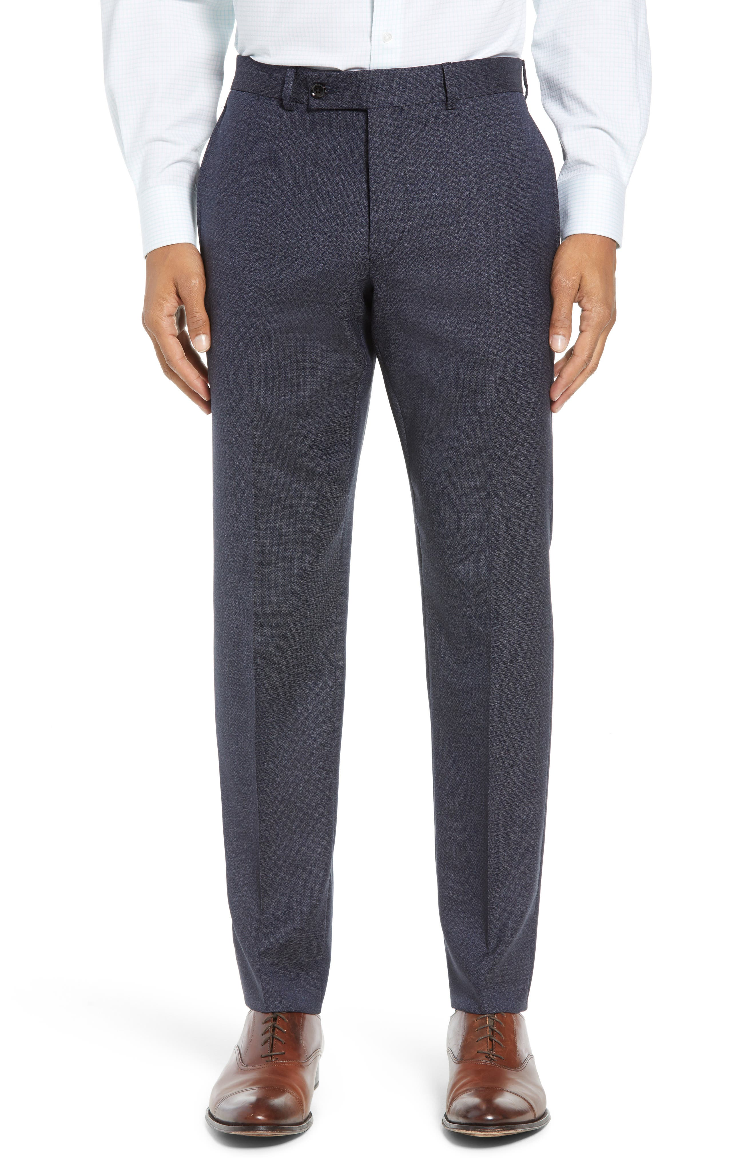 Jay Trim Fit Solid Wool Suit,                             Alternate thumbnail 6, color,                             020