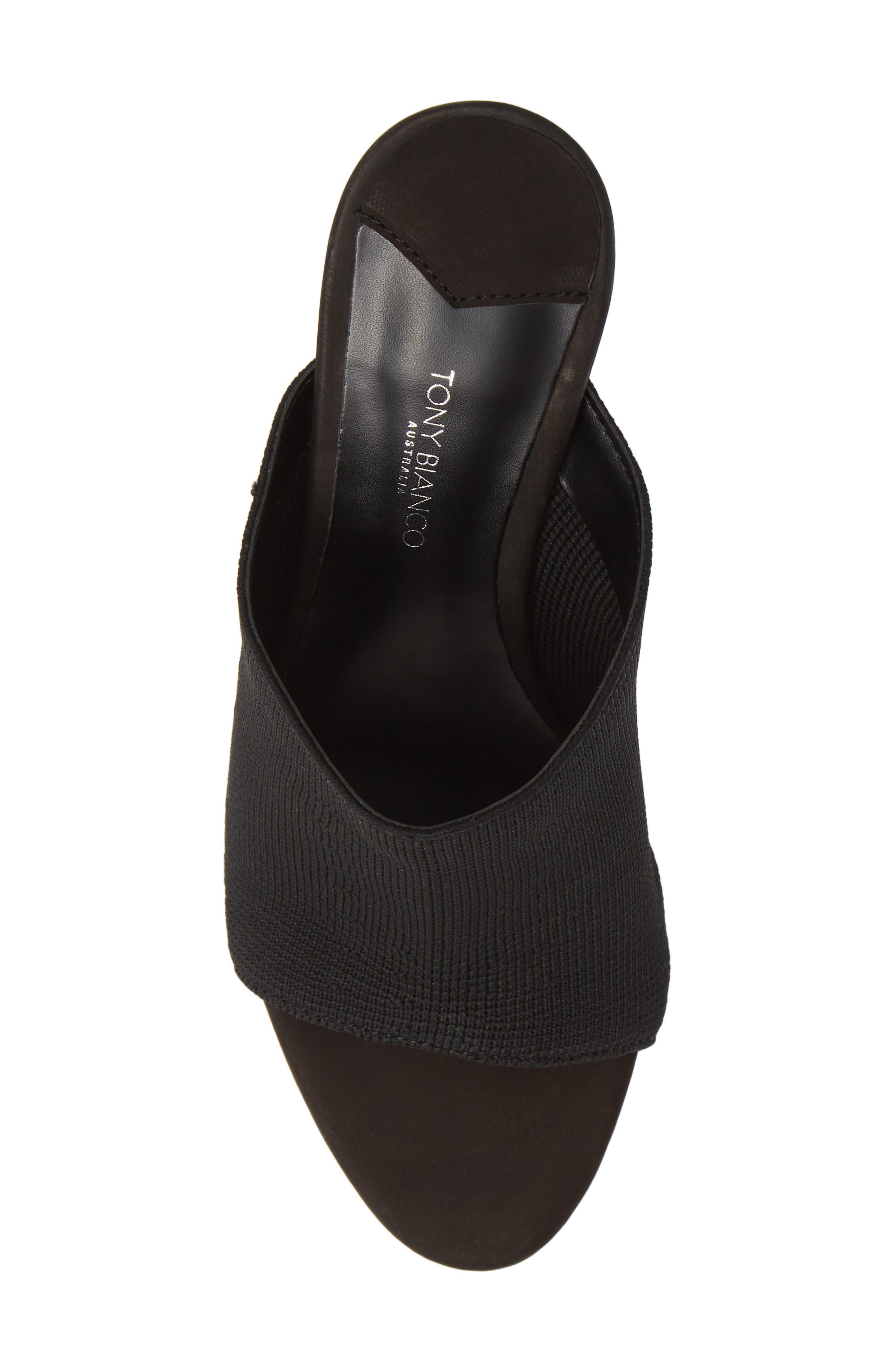 Inca Slide Sandal,                             Alternate thumbnail 5, color,                             BLACK BORDEAUX FABRIC