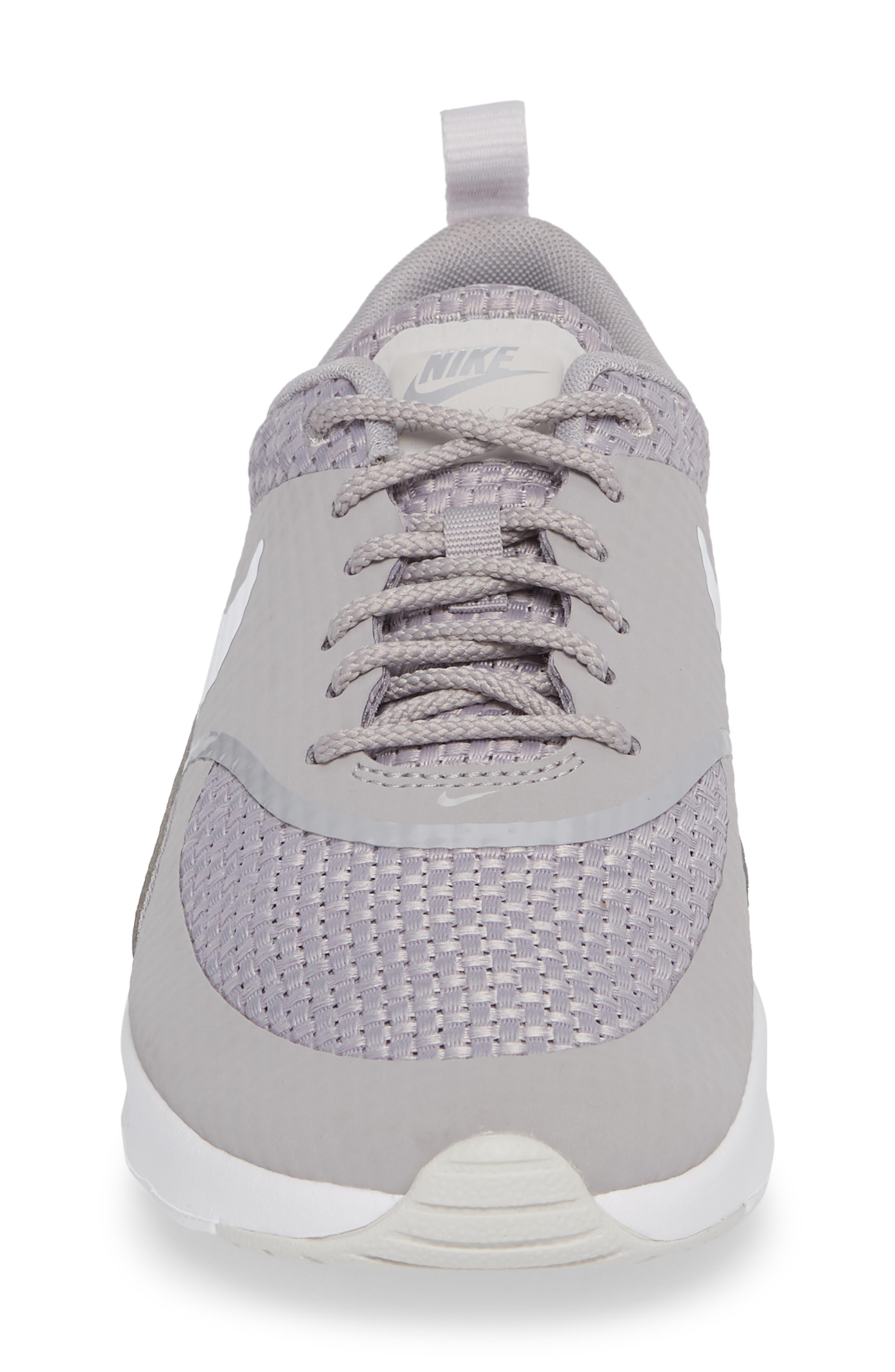 Air Max Thea Sneaker,                             Alternate thumbnail 4, color,                             ATMOSPHERE GREY/ WHITE