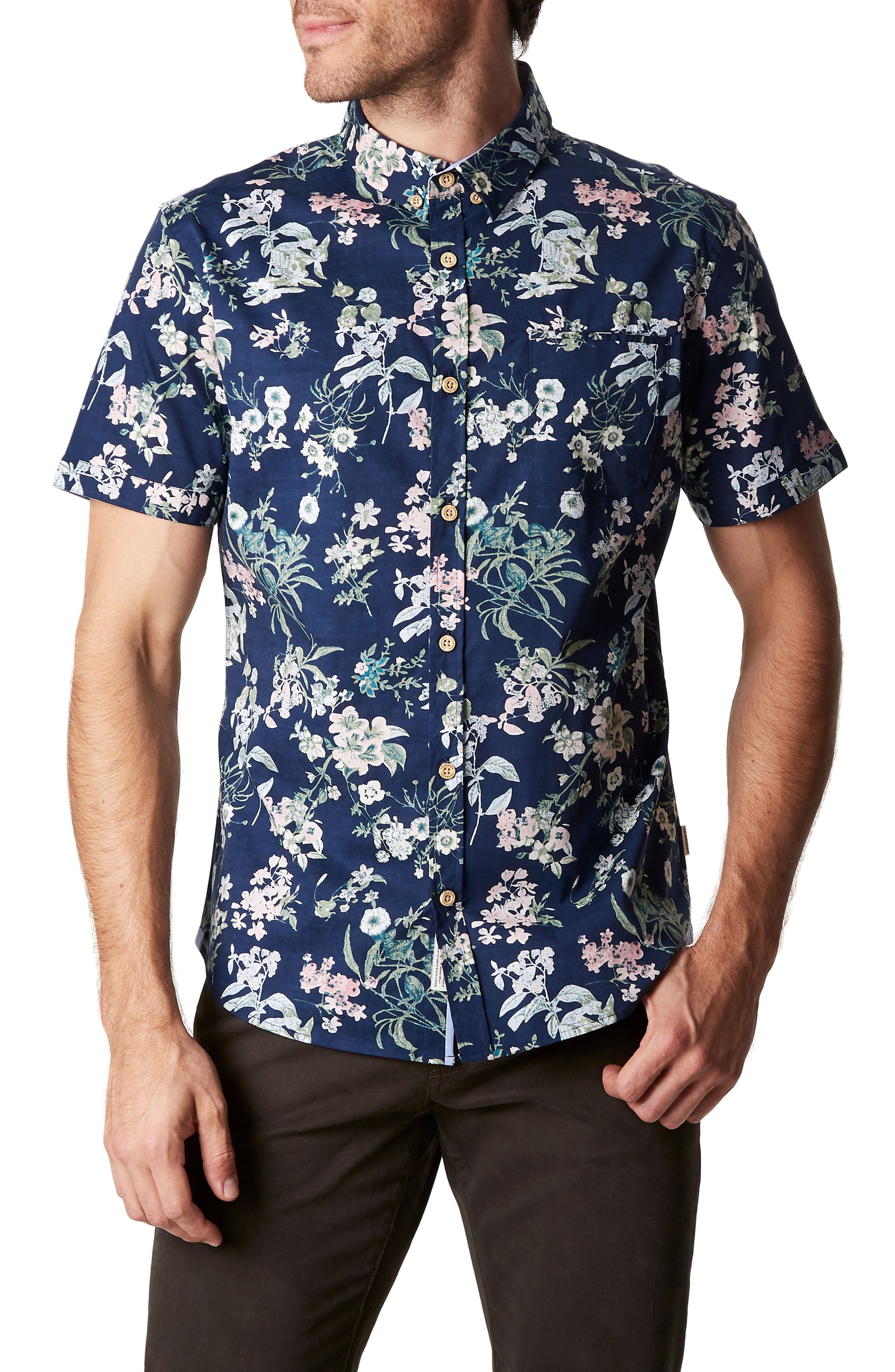 Soulbird Rise Trim Fit Stretch Sport Shirt,                         Main,                         color, 410