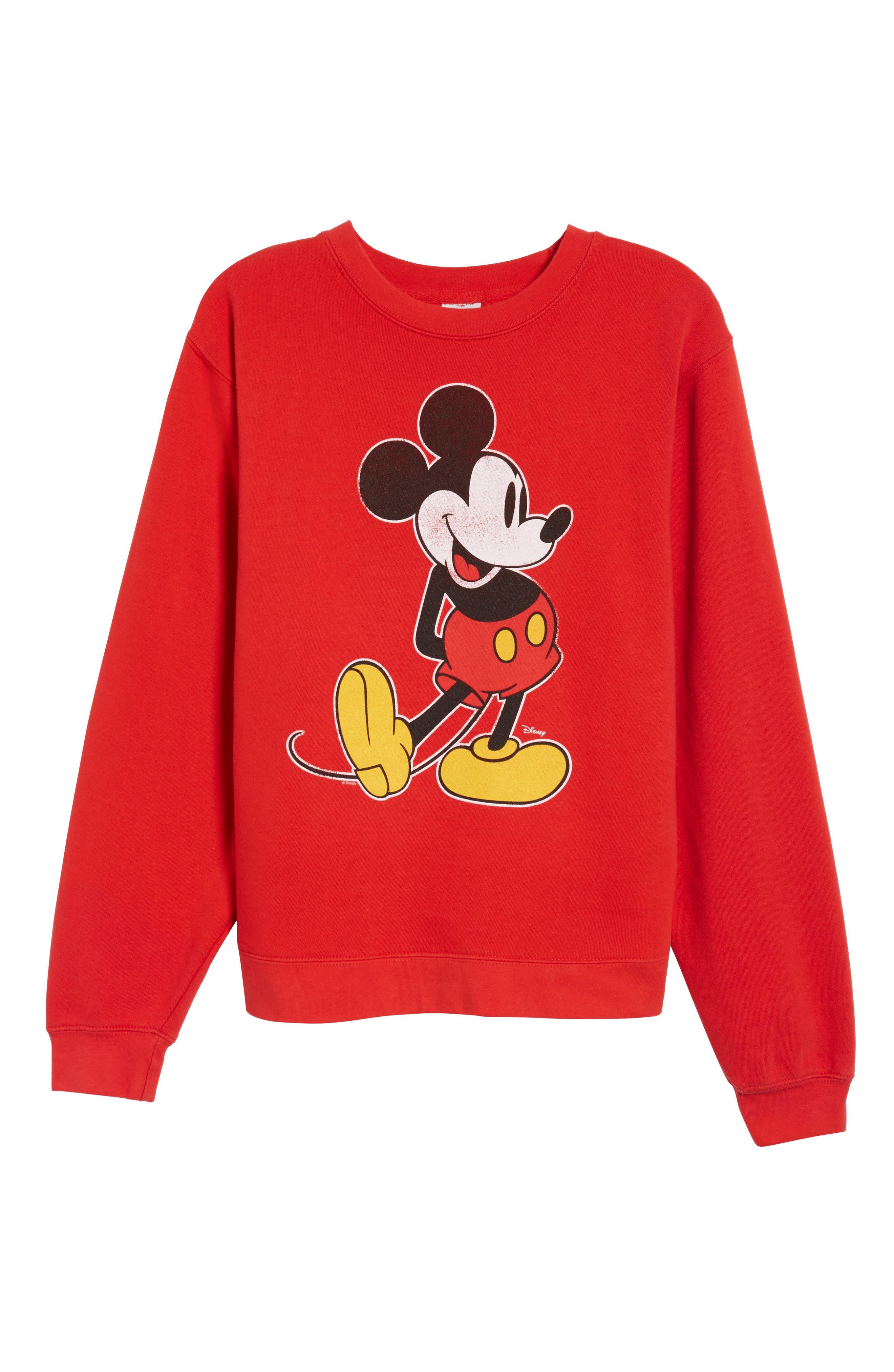 JUNK FOOD,                             Junkfood Disney<sup>®</sup> Classic Mickey Sweatshirt,                             Alternate thumbnail 6, color,                             600
