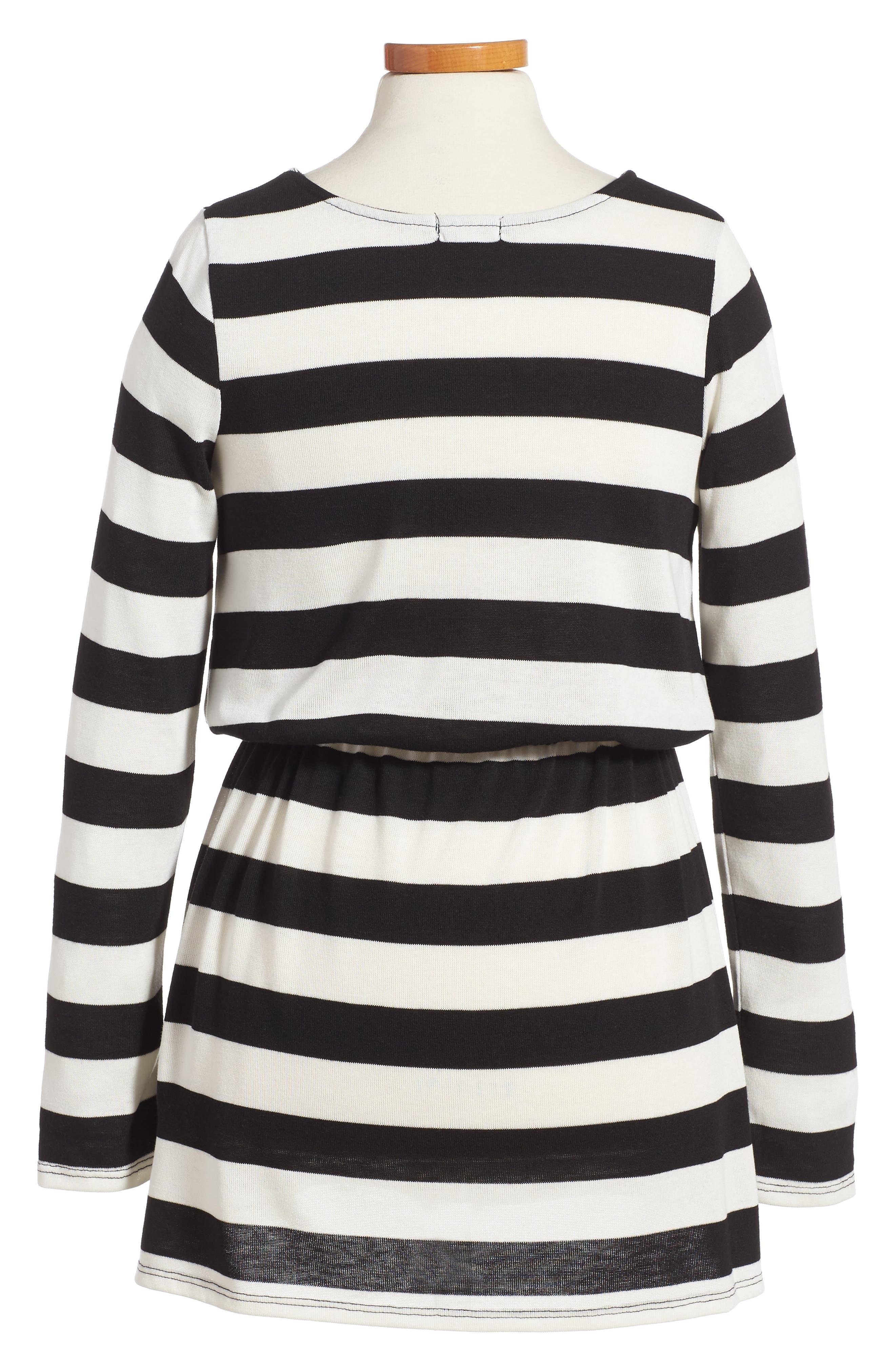 Stripe Knit Dress,                             Alternate thumbnail 2, color,                             100