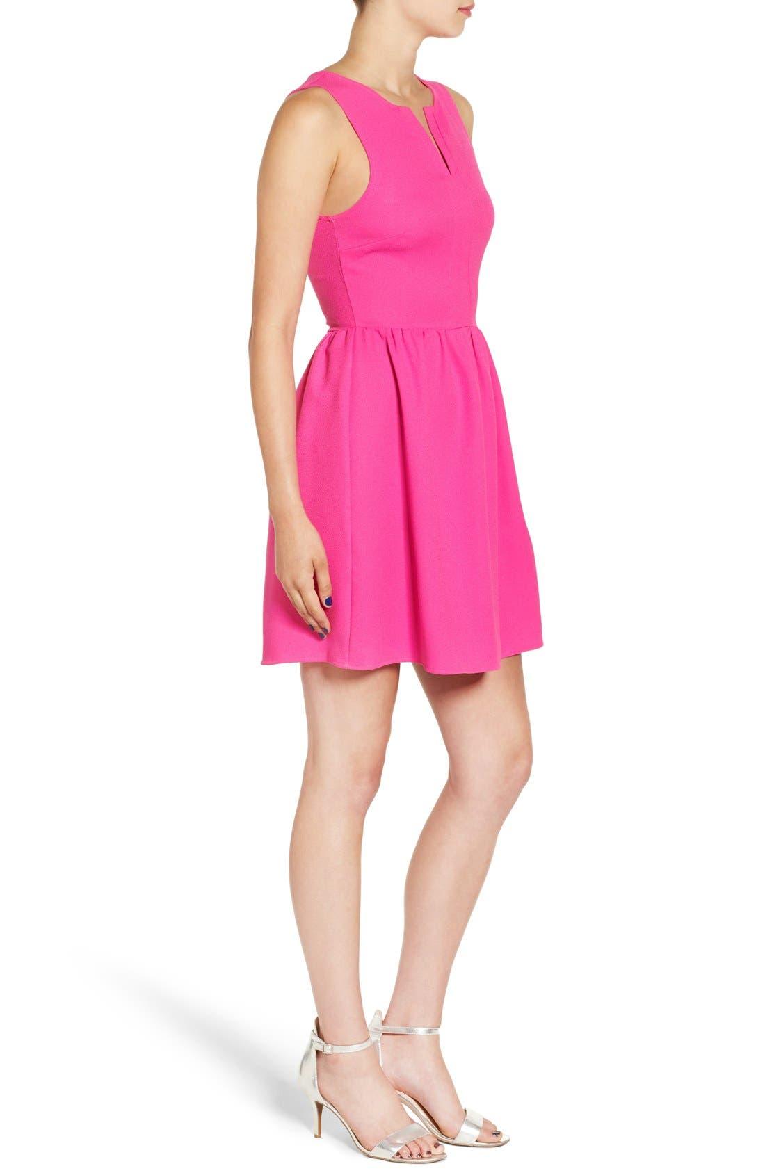 'Rowan' V-Neck Skater Dress,                             Alternate thumbnail 45, color,