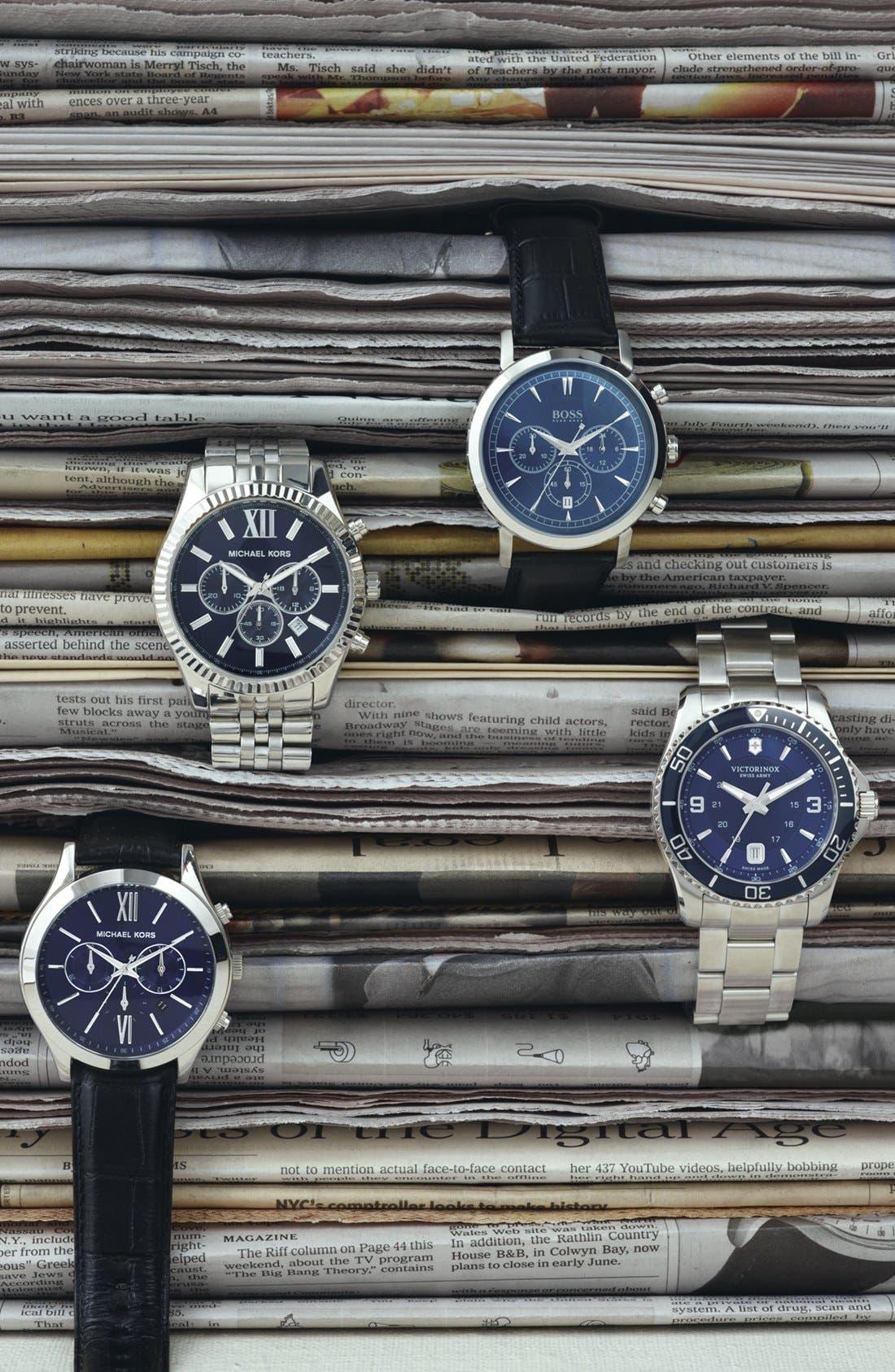 'Large Lexington' Chronograph Bracelet Watch, 45mm,                             Alternate thumbnail 6, color,                             040