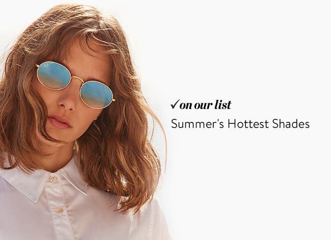 Women's sunglasses trends.