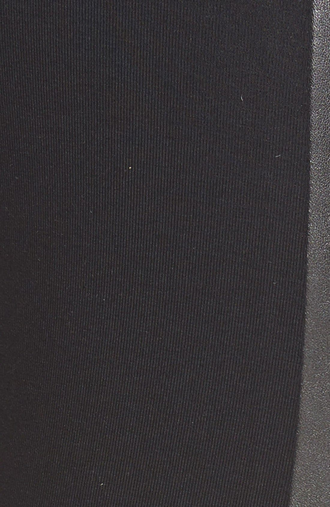 BP.,                             Two-Tone Faux Leather Leggings,                             Alternate thumbnail 3, color,                             001