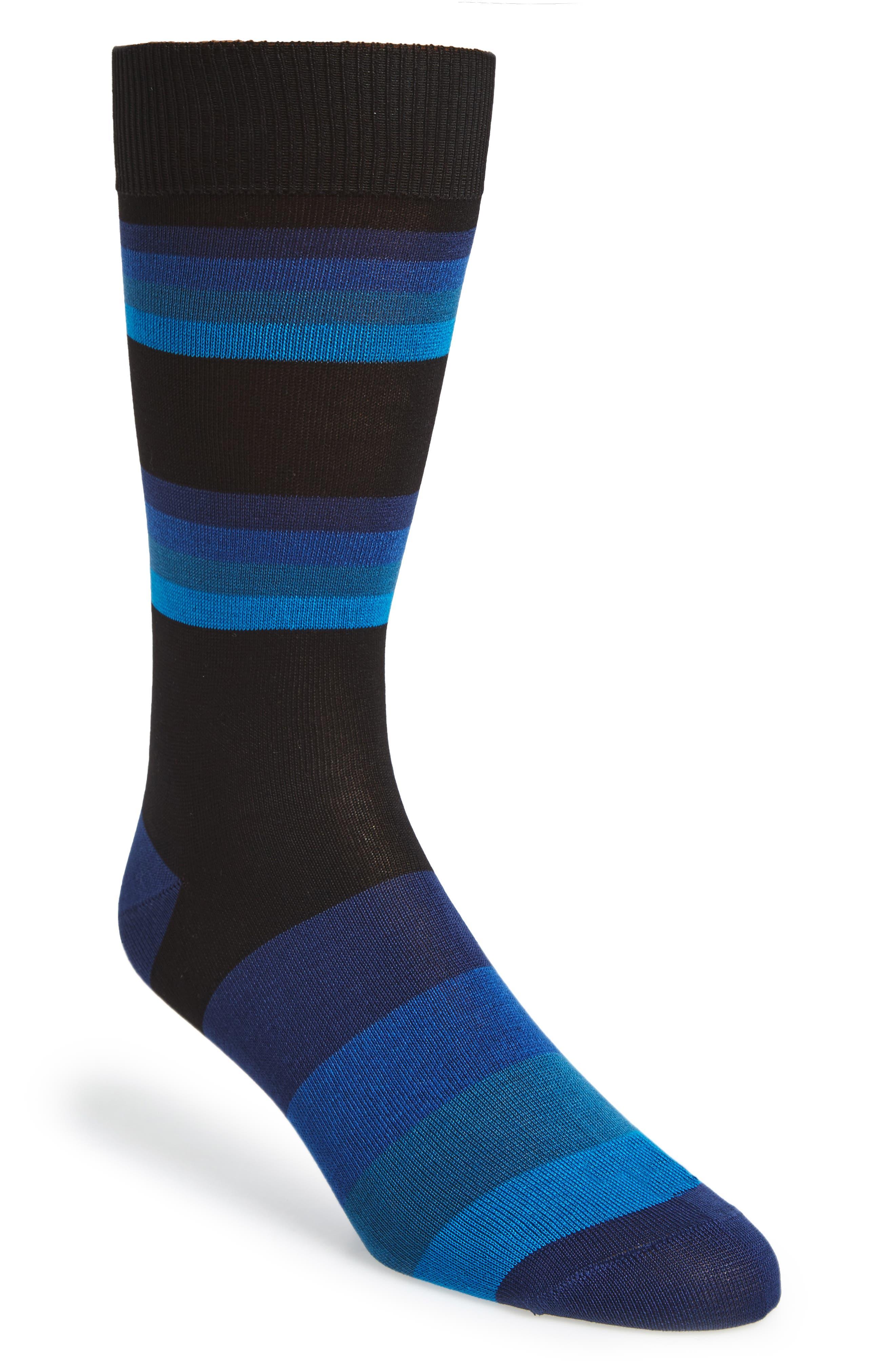 Boston Stripe Socks,                             Main thumbnail 1, color,                             001