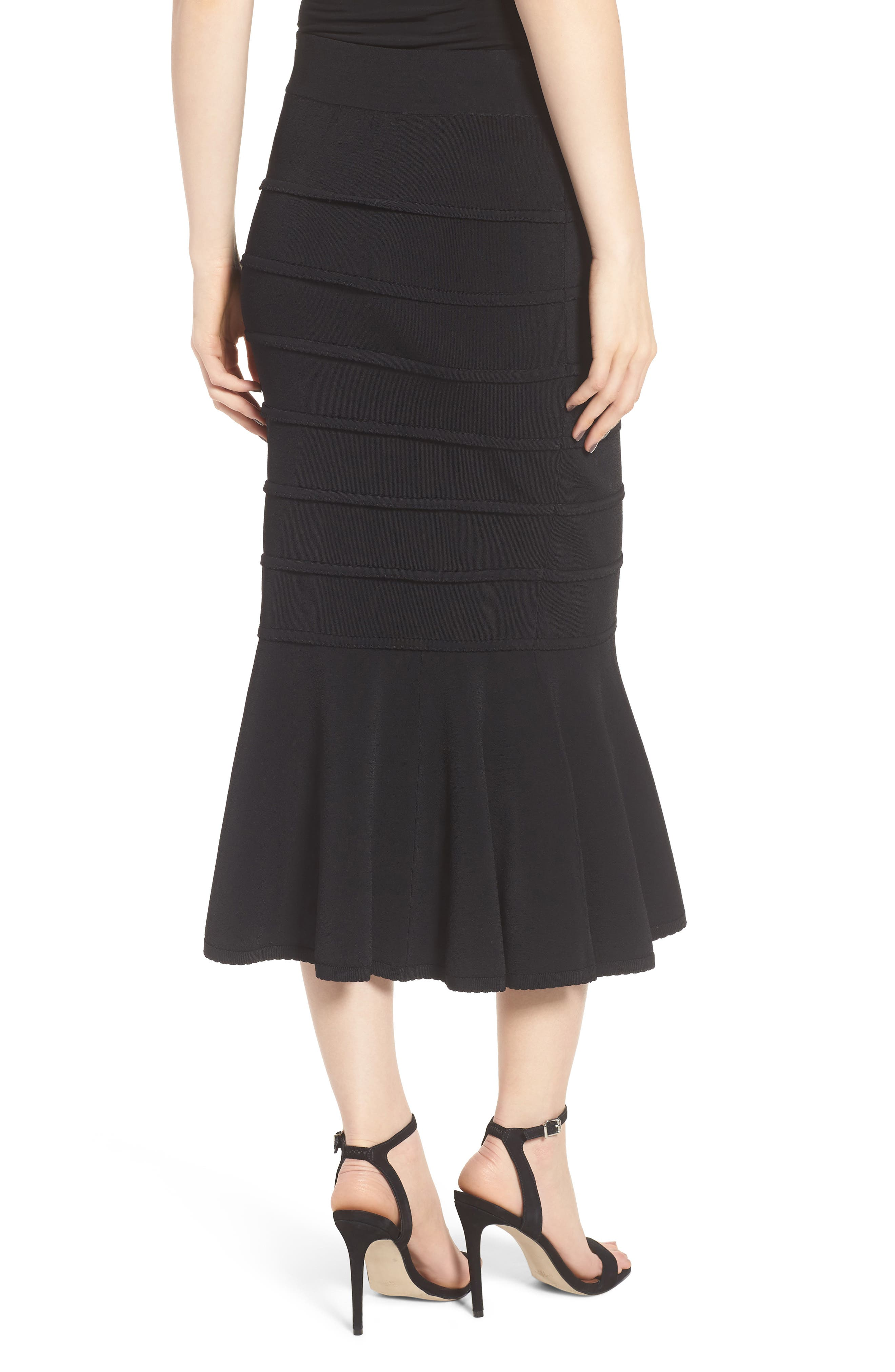 CHELSEA28,                             Trumpet Skirt,                             Alternate thumbnail 2, color,                             001