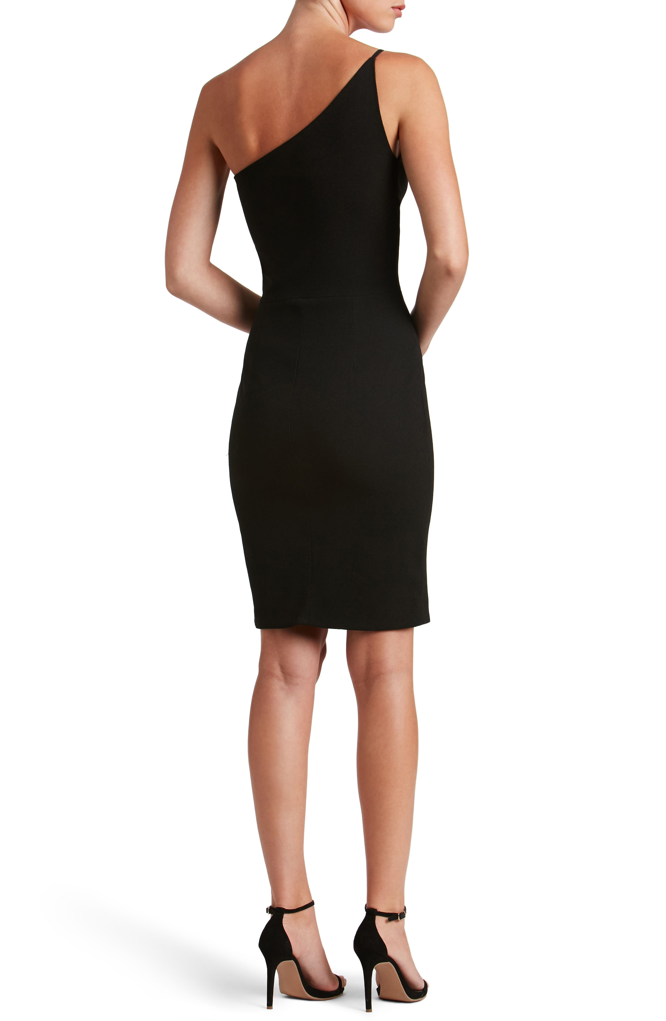 Jennifer One-Shoulder Body-Con Dress,                             Alternate thumbnail 2, color,                             001