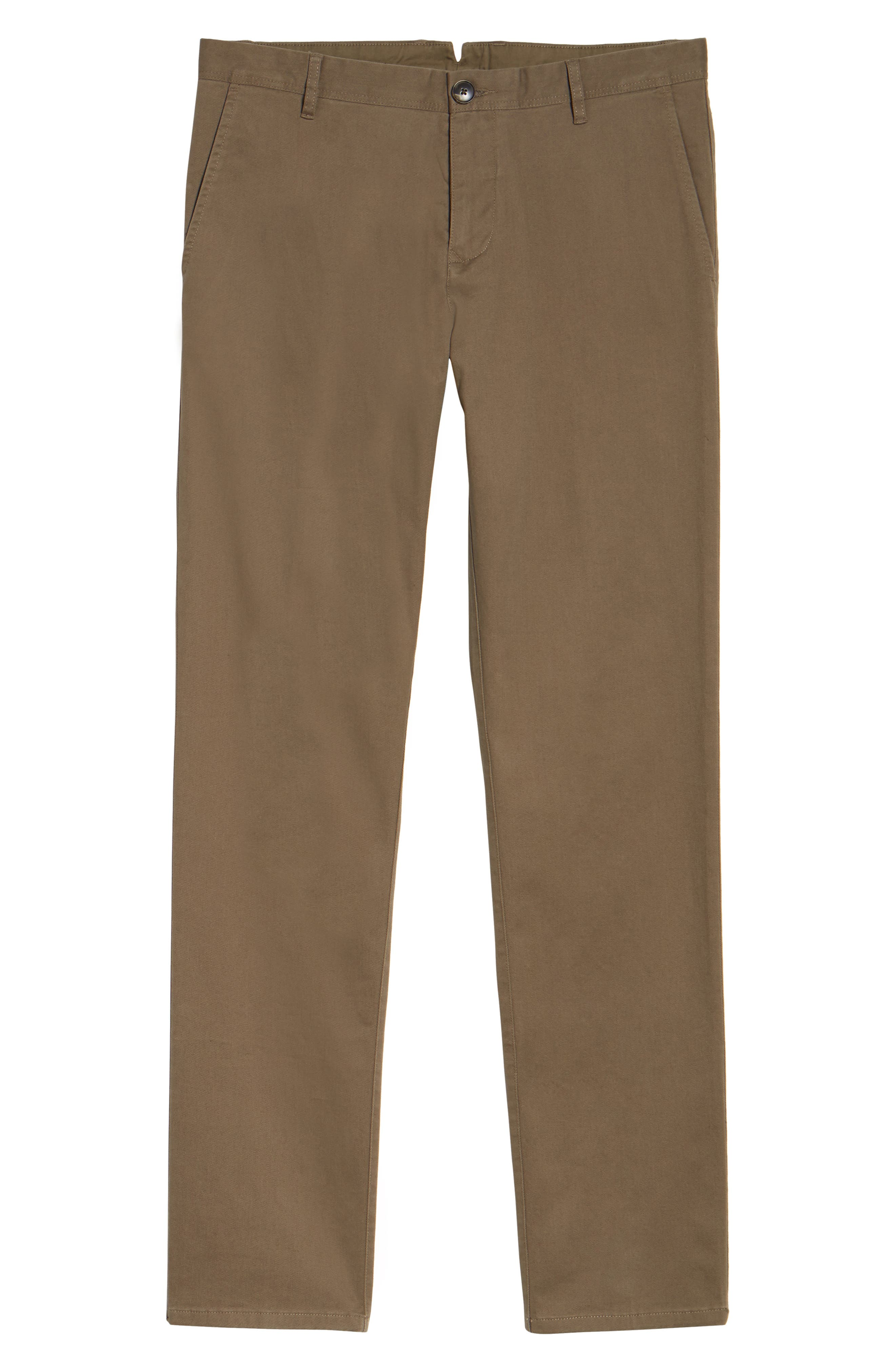 Stanely Brook Custom Fit Chinos,                             Alternate thumbnail 6, color,                             TAUPE