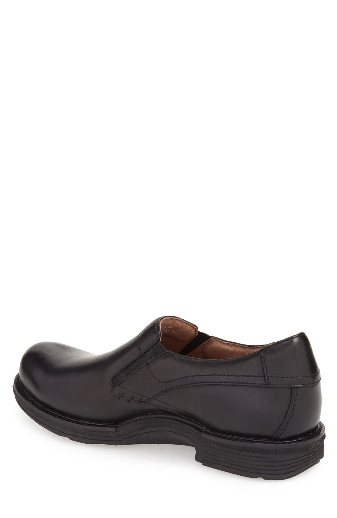 'Jackson' Leather Slip-On,                             Alternate thumbnail 3, color,                             BLACK ANTIQUED CALF LEATHER