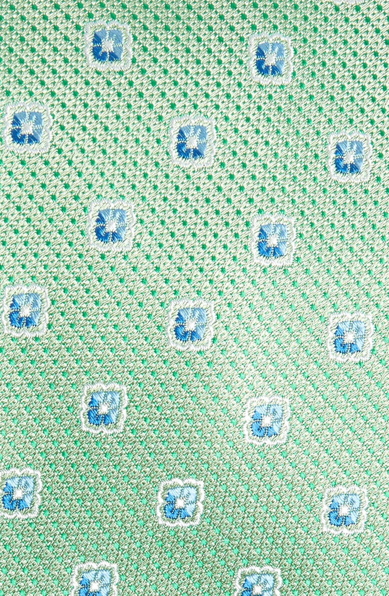 Leary Medallion Silk Tie,                             Alternate thumbnail 4, color,