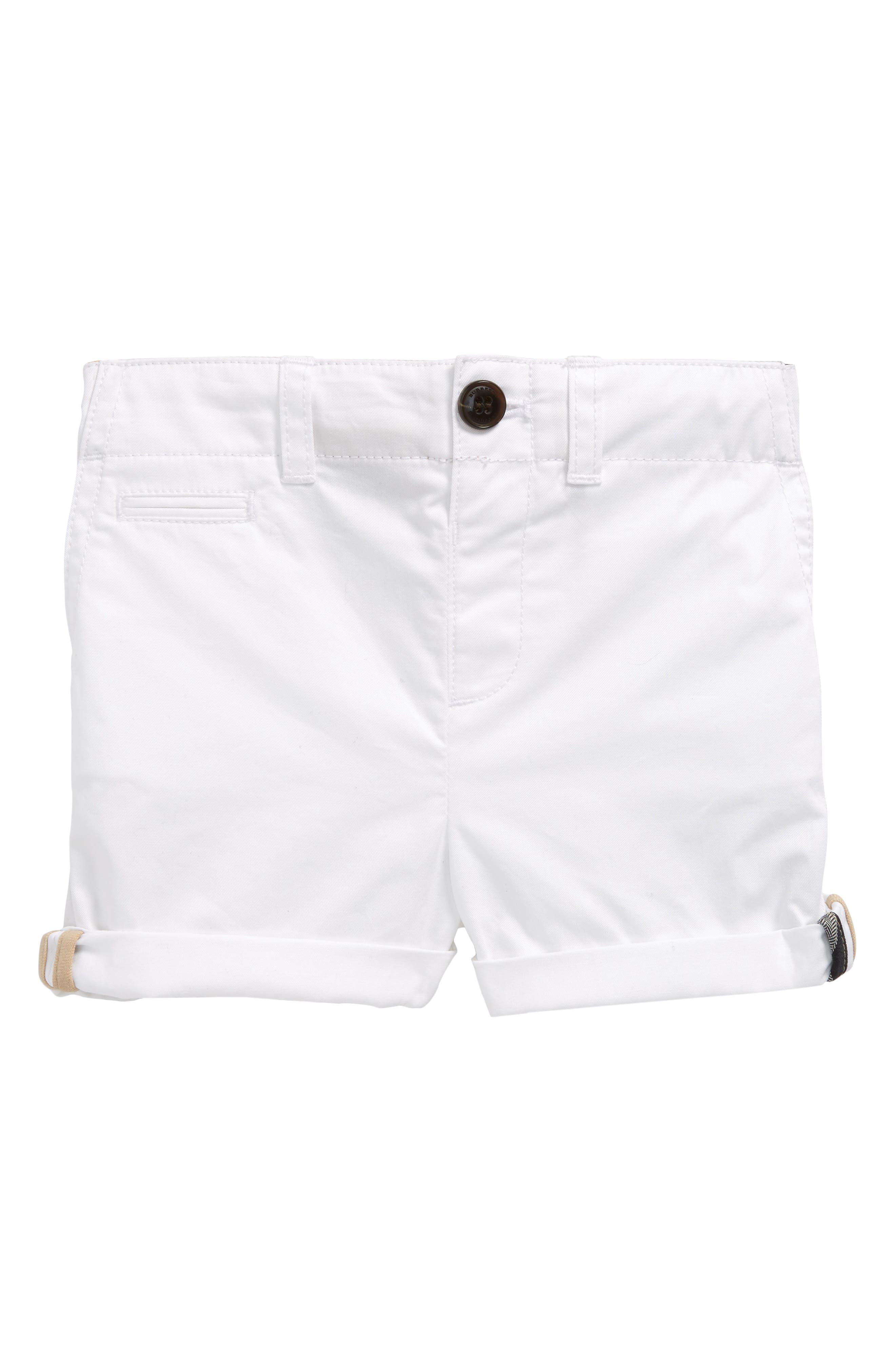 Tina Cotton Twill Shorts,                             Main thumbnail 1, color,                             100