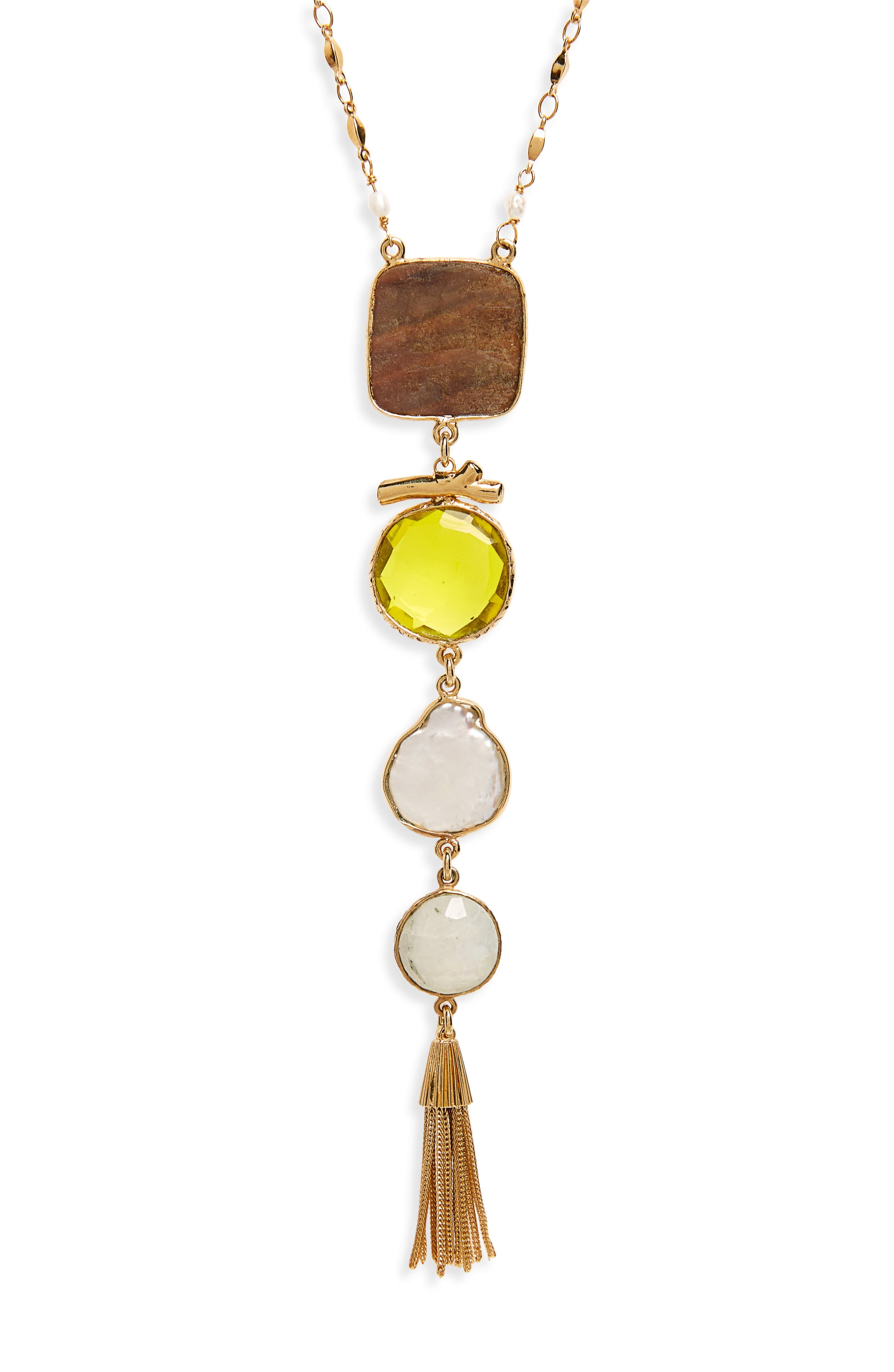 Poeme Y-Necklace,                             Alternate thumbnail 2, color,                             YELLOW
