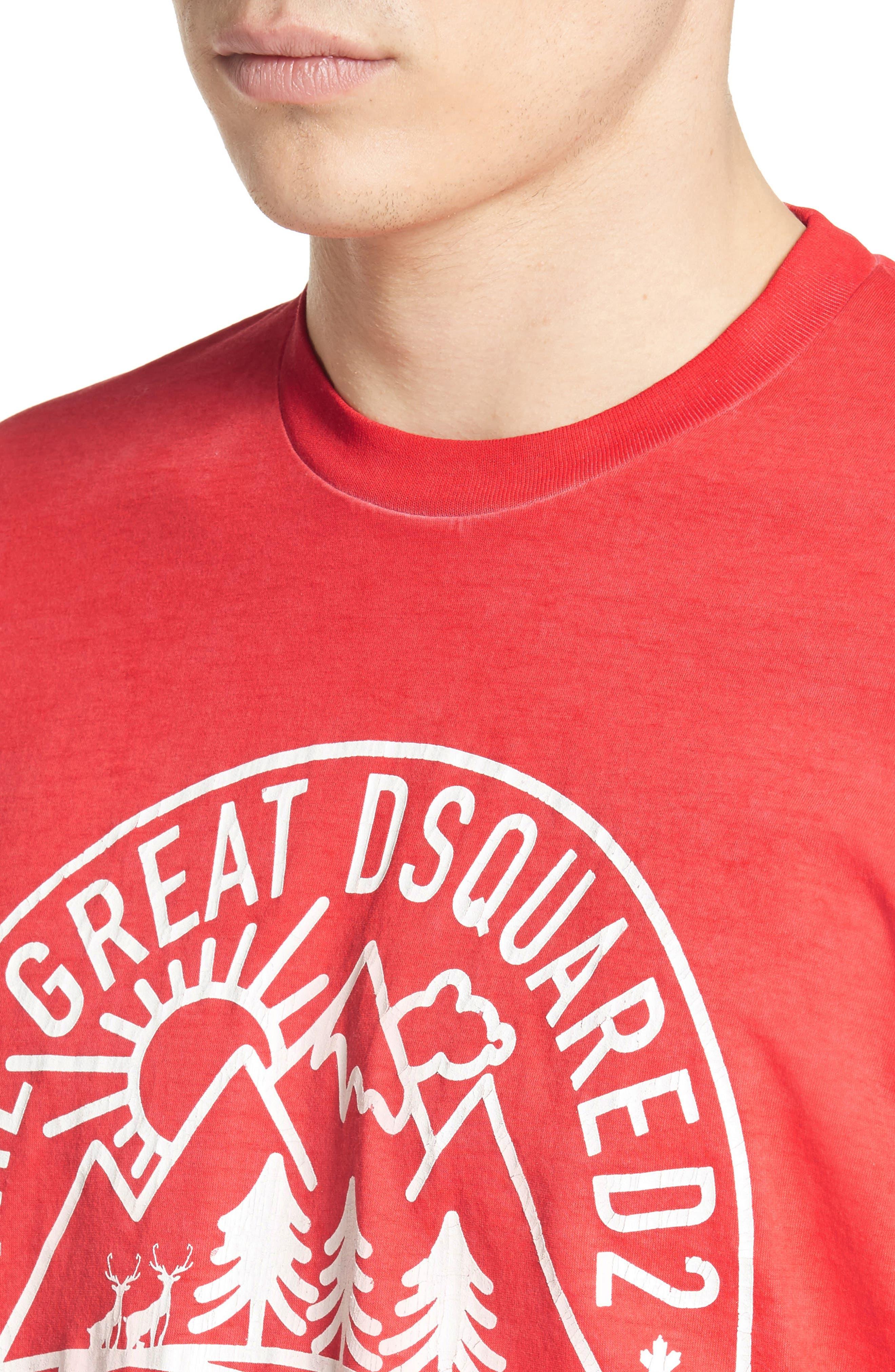 Mountain Logo Graphic T-Shirt,                             Alternate thumbnail 4, color,                             600