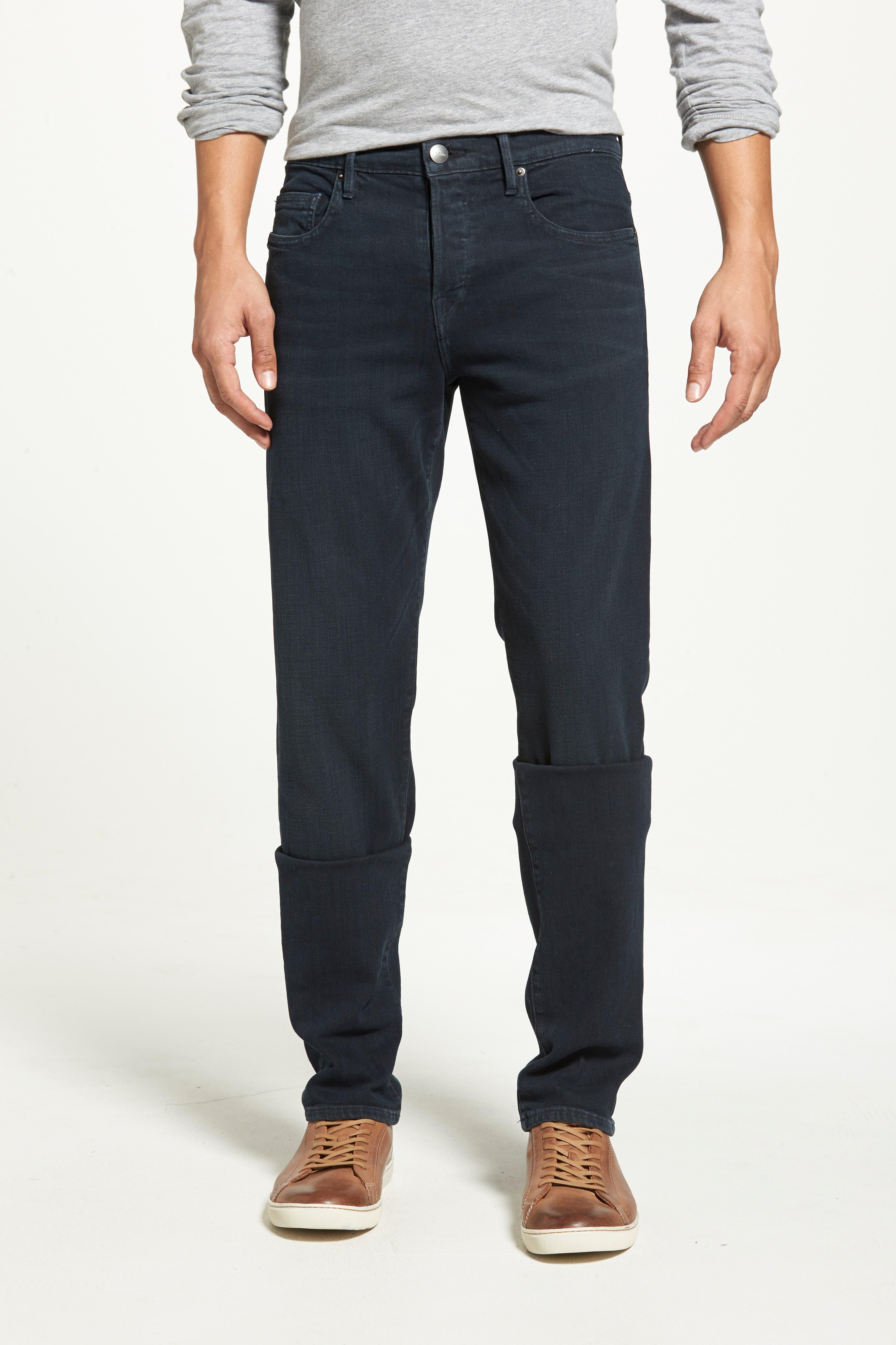 'L'Homme' Slim Fit Jeans,                             Alternate thumbnail 5, color,                             PLACID