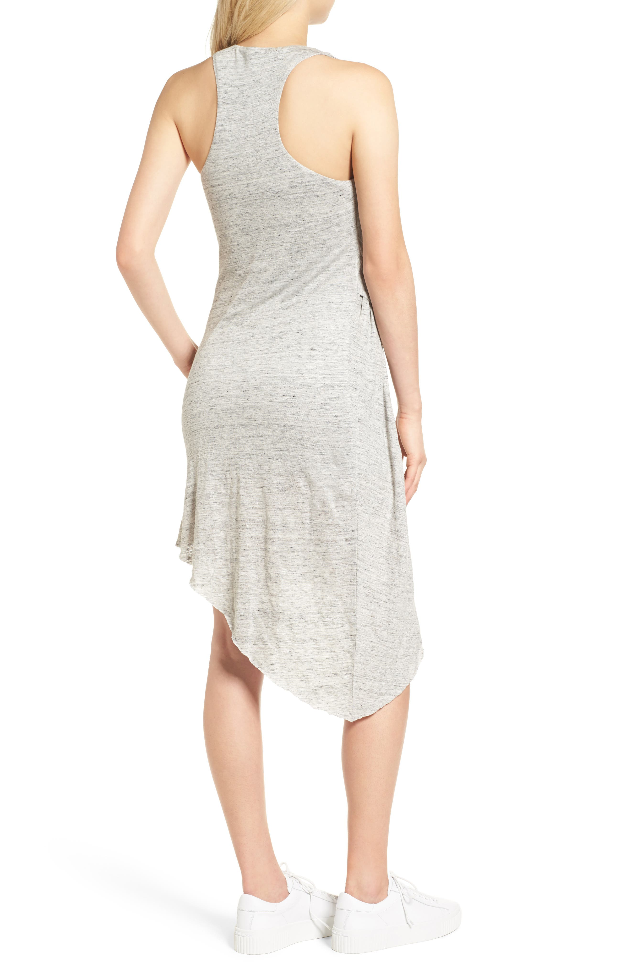 Asymmetrical Ruched Dress,                             Alternate thumbnail 2, color,                             051