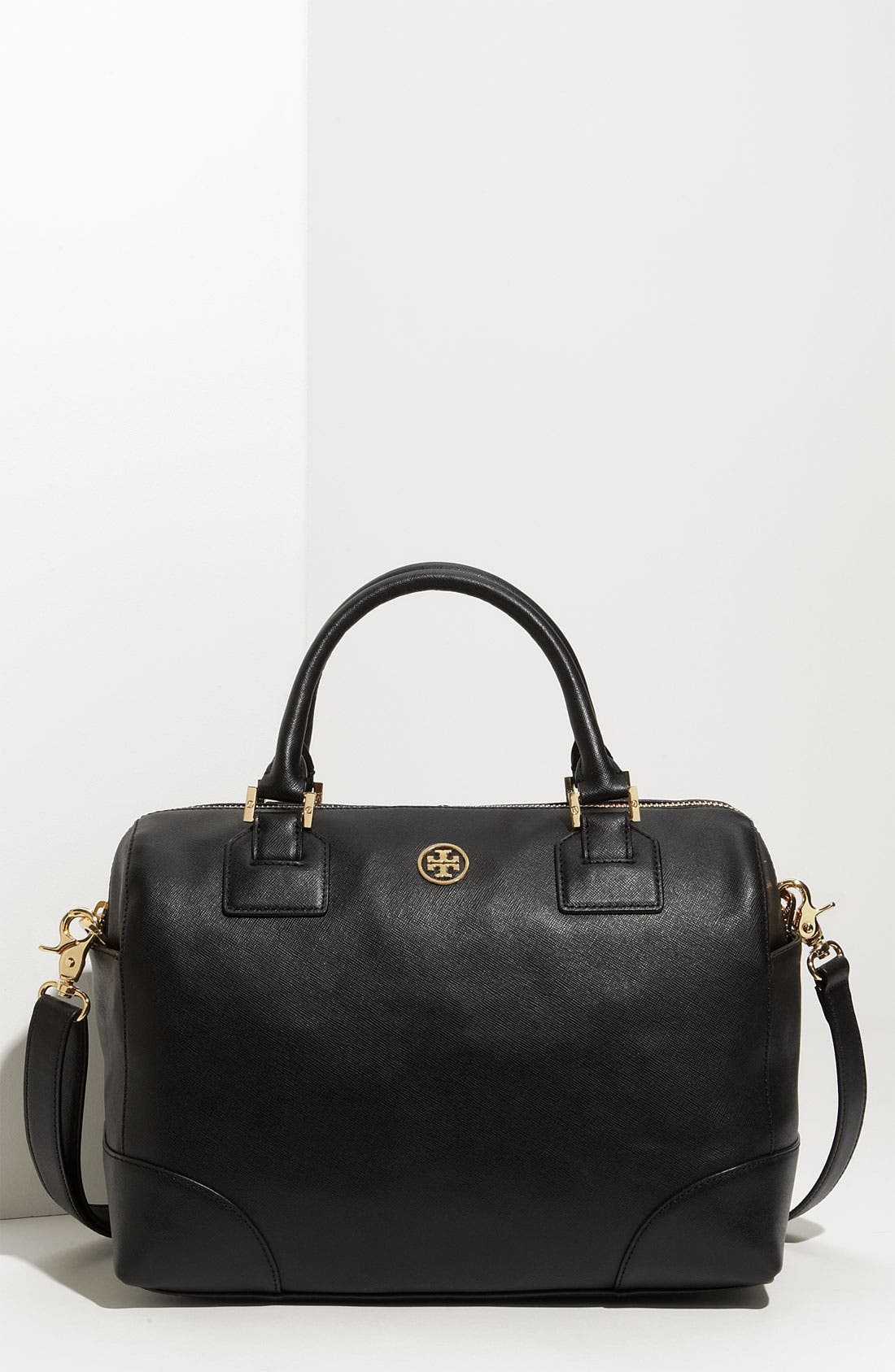 TORY BURCH,                             'Robinson' Satchel,                             Main thumbnail 1, color,                             001