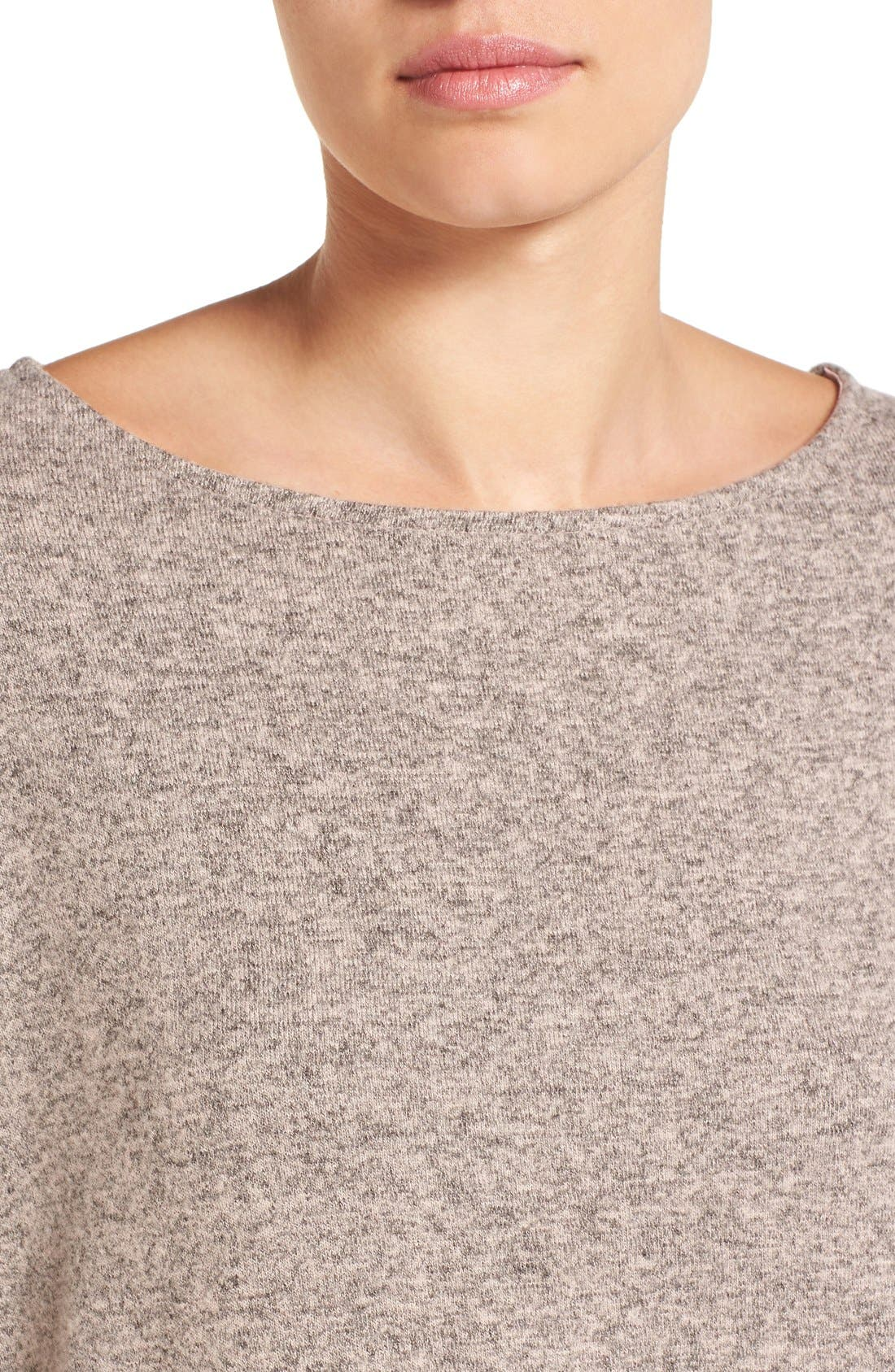 Cozy Ballet Neck High/Low Pullover,                             Alternate thumbnail 70, color,