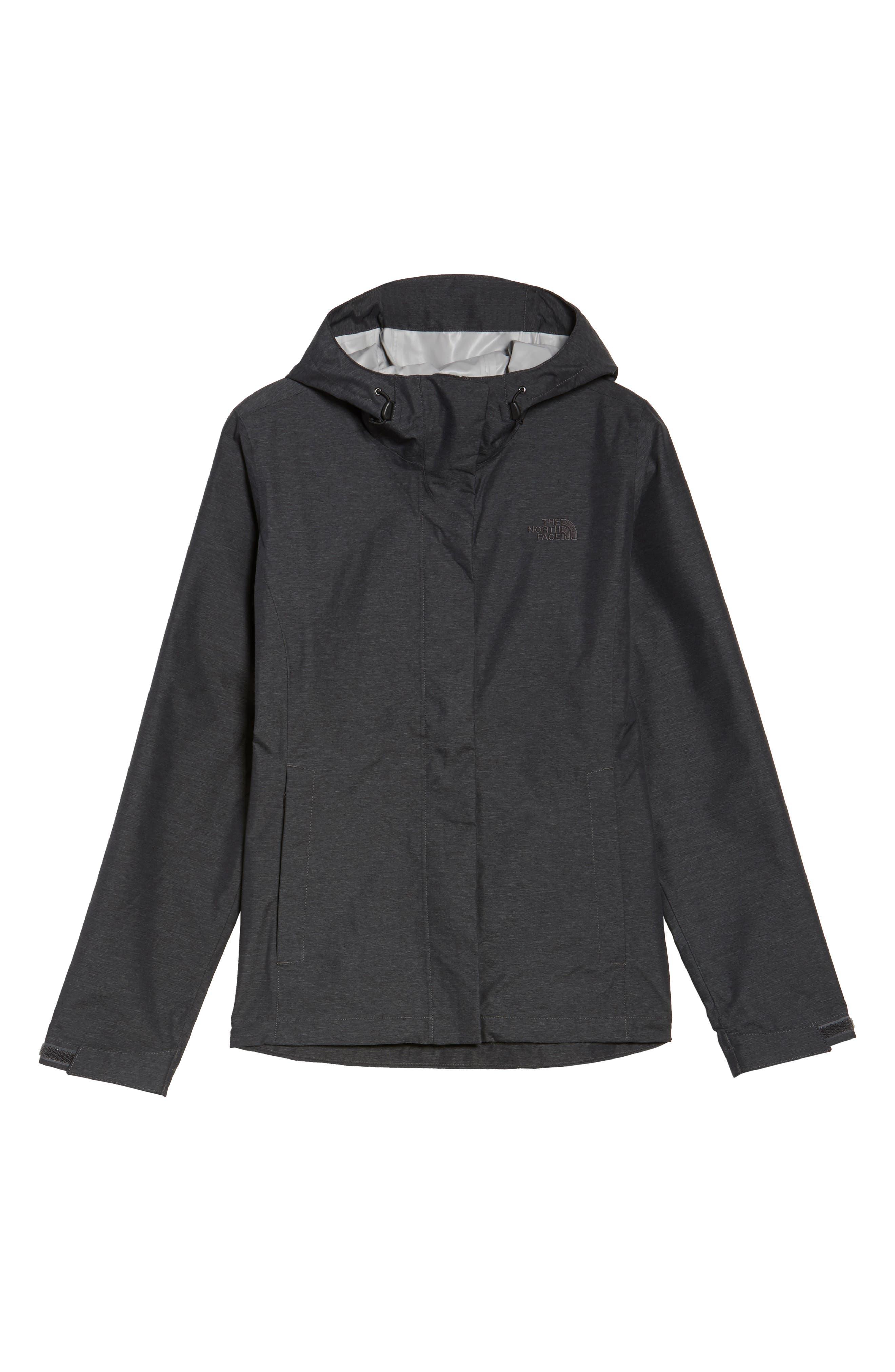 Venture 2 Waterproof Jacket,                             Alternate thumbnail 6, color,                             TNF DARK GREY HEATHER