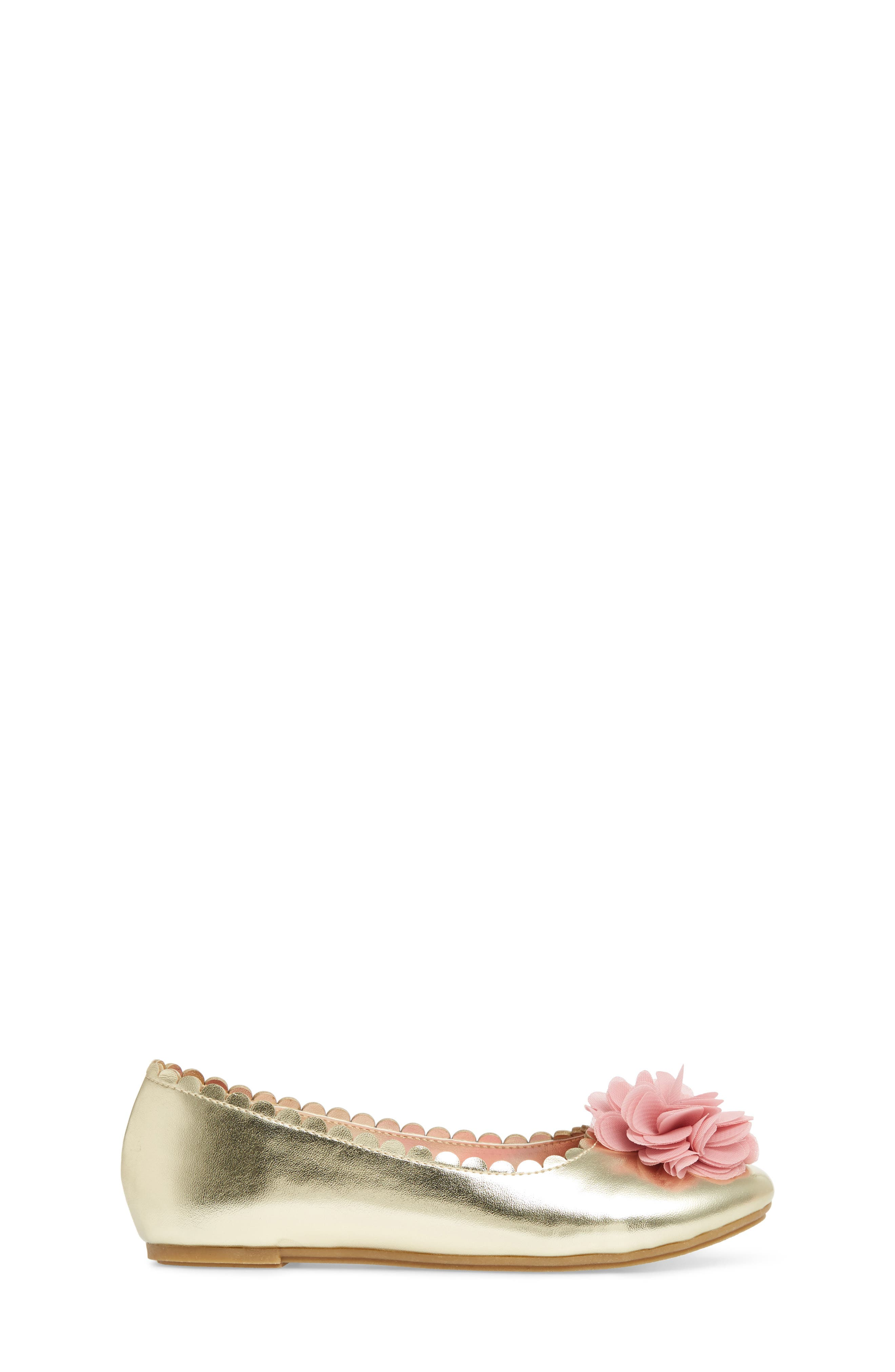 Ashlyn Flower Ballet Flat,                             Alternate thumbnail 3, color,                             710