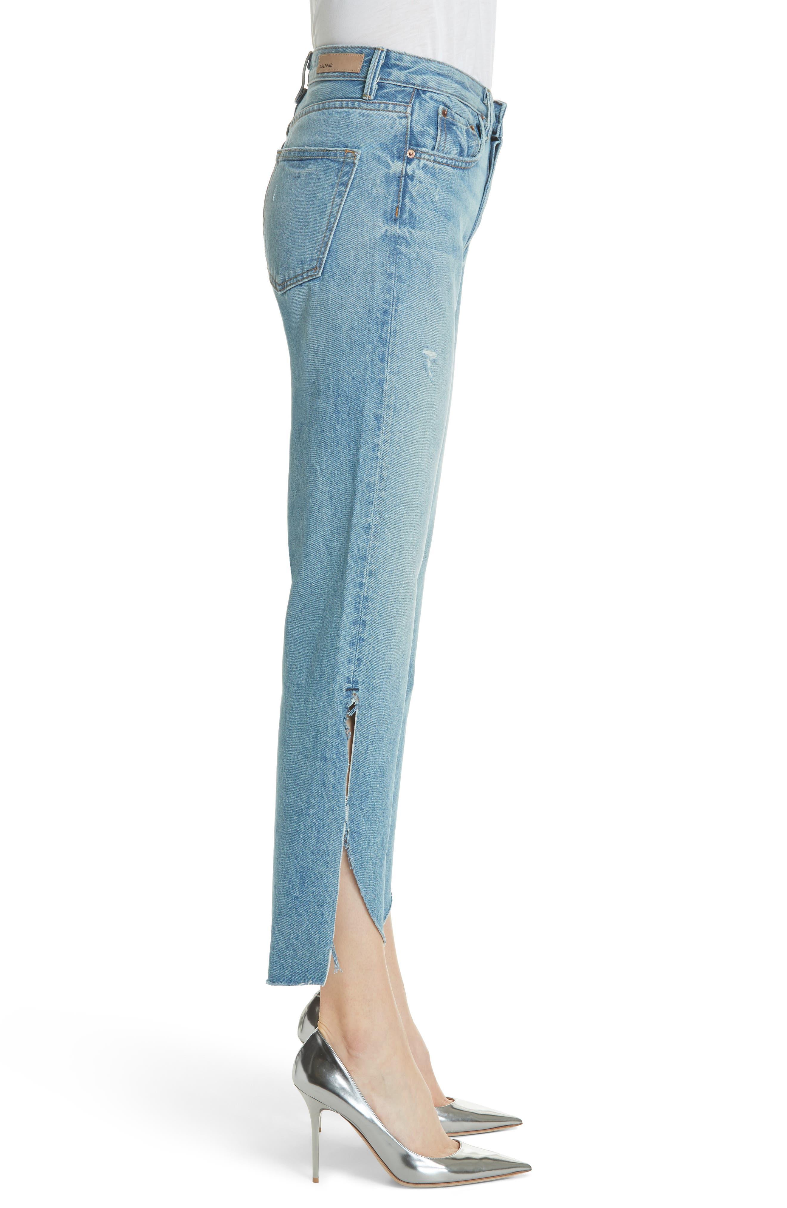 Maran Wide Leg Crop Jeans,                             Alternate thumbnail 3, color,                             483