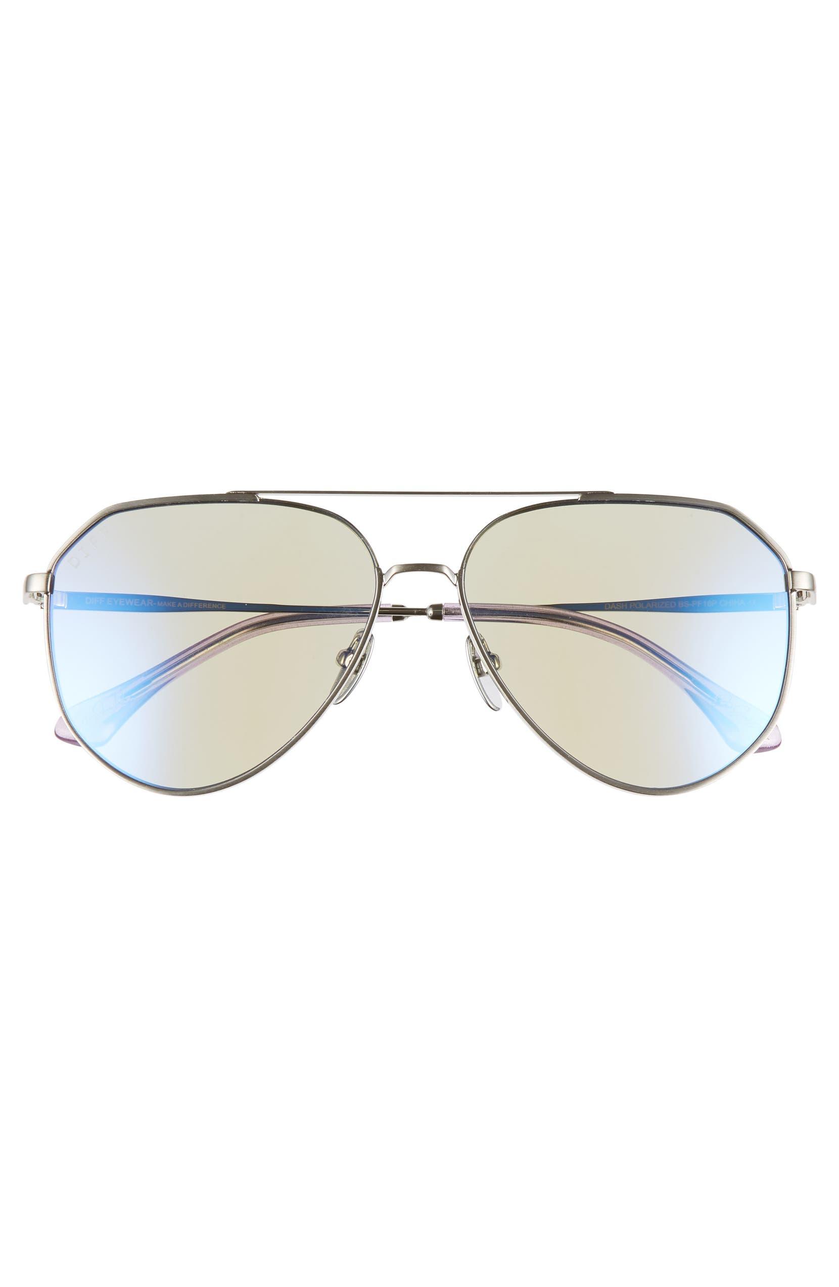 ba7c3a96a9c9c DIFF x Jessie James Decker Dash 61mm Polarized Aviator Sunglasses ...