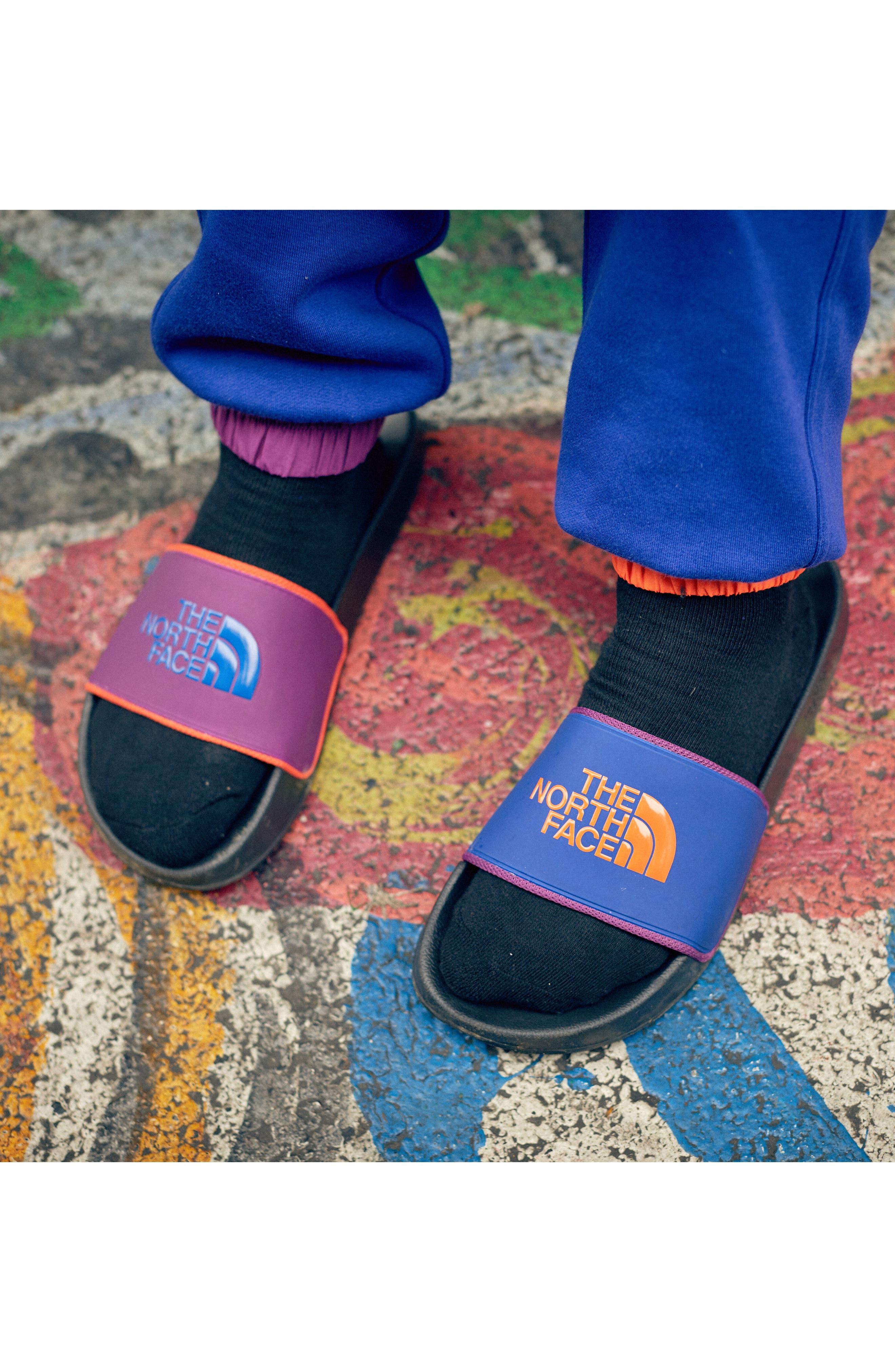 Base Camp II Slide Sandal,                             Alternate thumbnail 6, color,                             TNF BLACK/ AZTEC BLUE