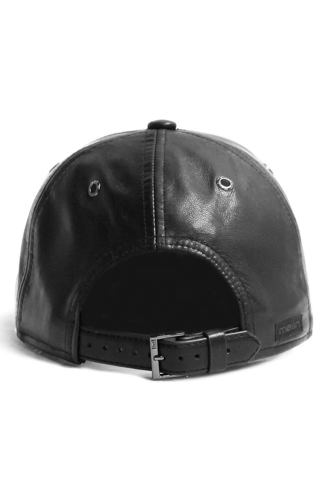 MELIN,                             'The Voyage' Baseball Cap,                             Alternate thumbnail 3, color,                             BLACK/ BLACK