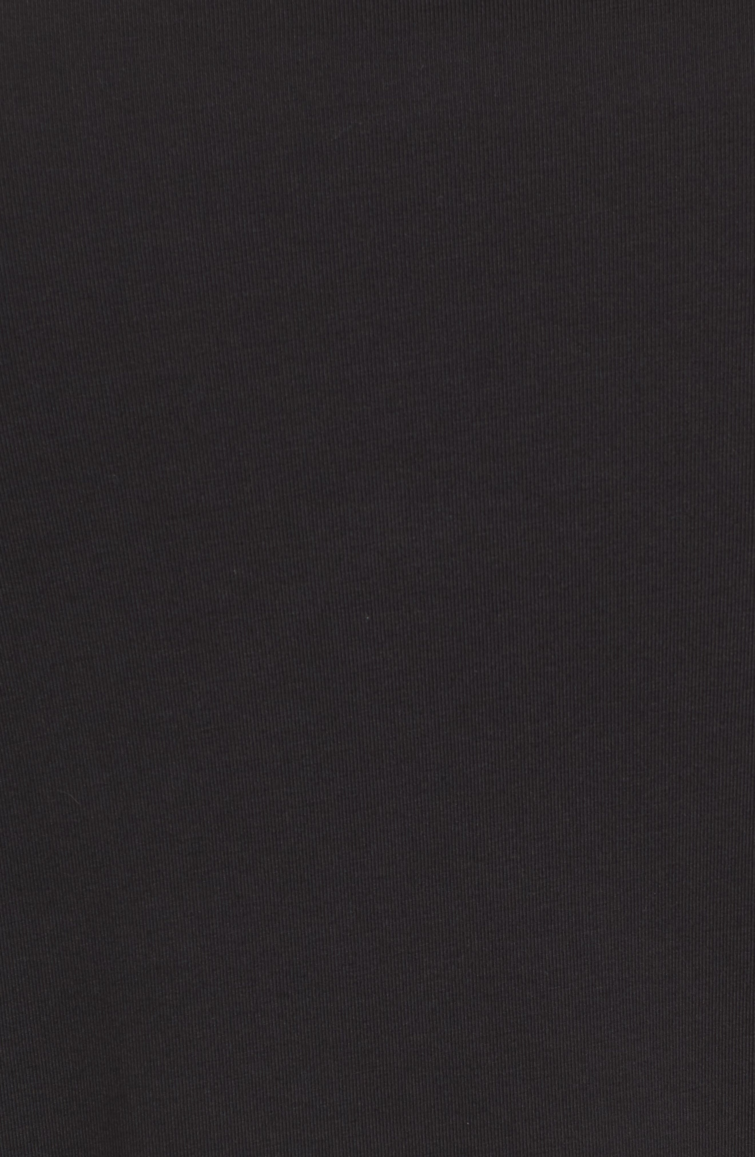 PTO Liquid Stretch Quarter Zip Pullover,                             Alternate thumbnail 5, color,                             BLACK
