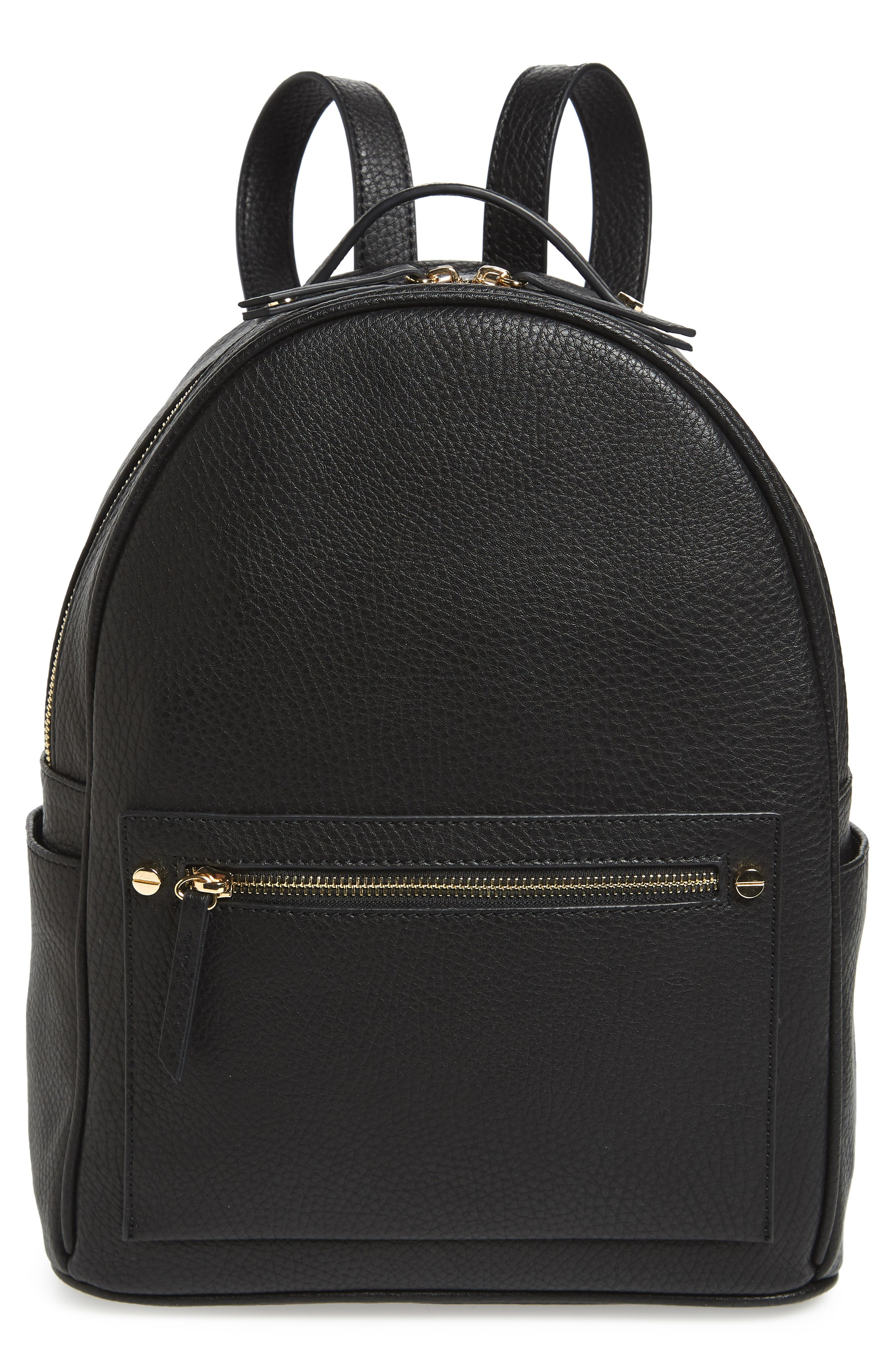 Mali + Lili Madison Vegan Leather Backpack,                             Main thumbnail 1, color,