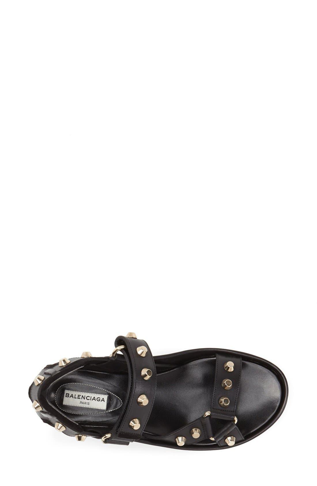 Studded Leather Sandal,                             Alternate thumbnail 2, color,                             001