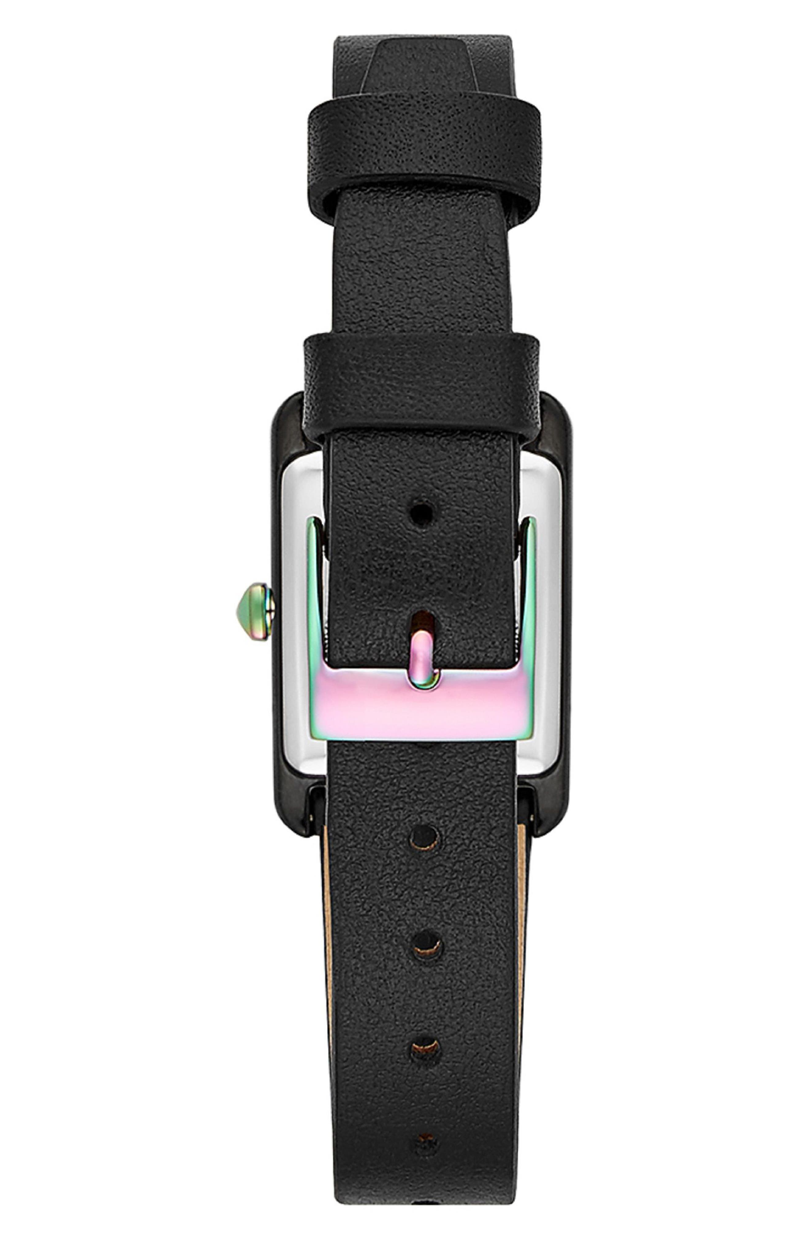 Moment Studded Leather Strap Watch, 19mm x 30mm,                             Alternate thumbnail 2, color,                             001