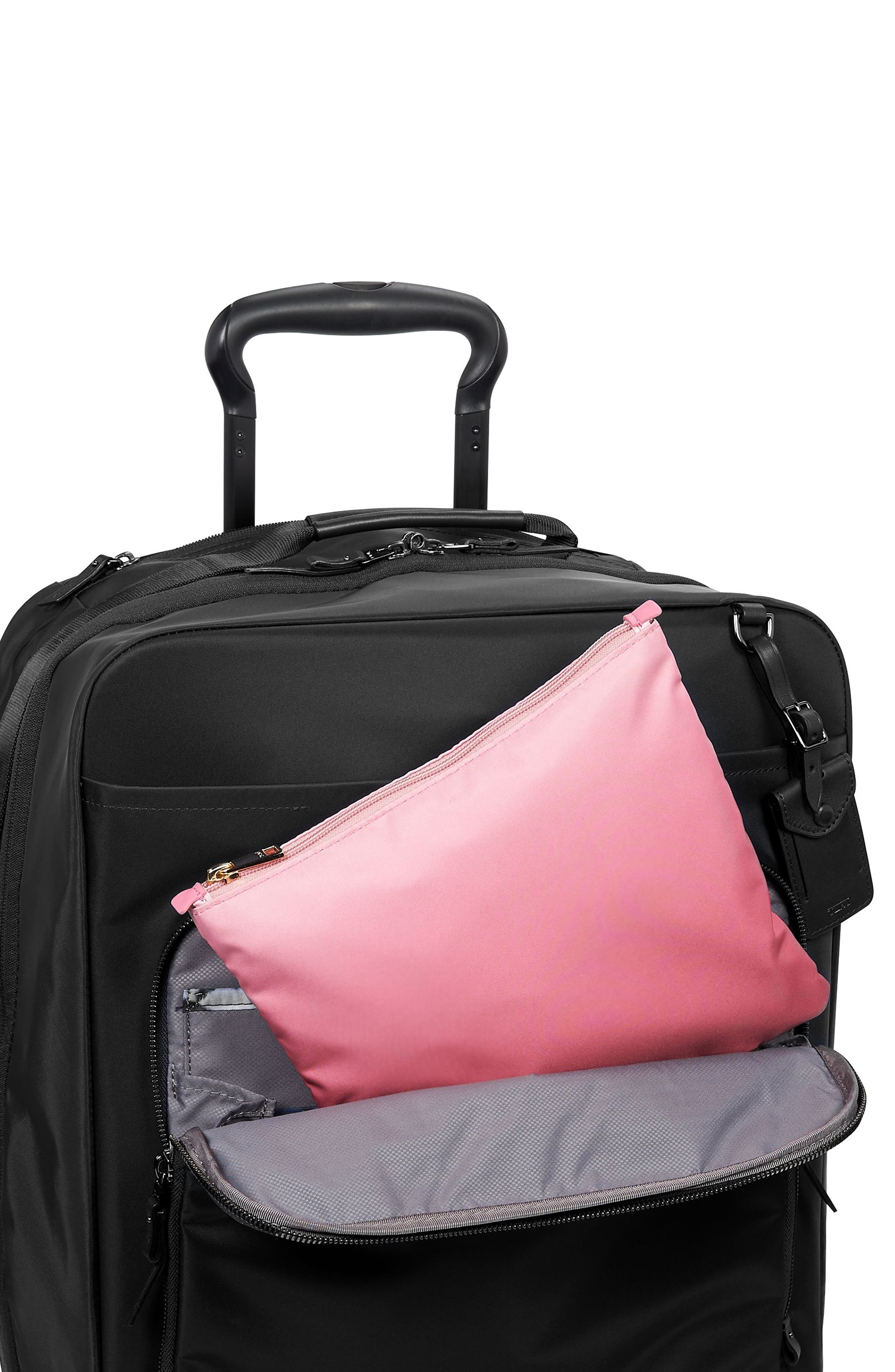 Voyageur - Just in Case Nylon Travel Backpack,                             Alternate thumbnail 6, color,                             PINK OMBRE
