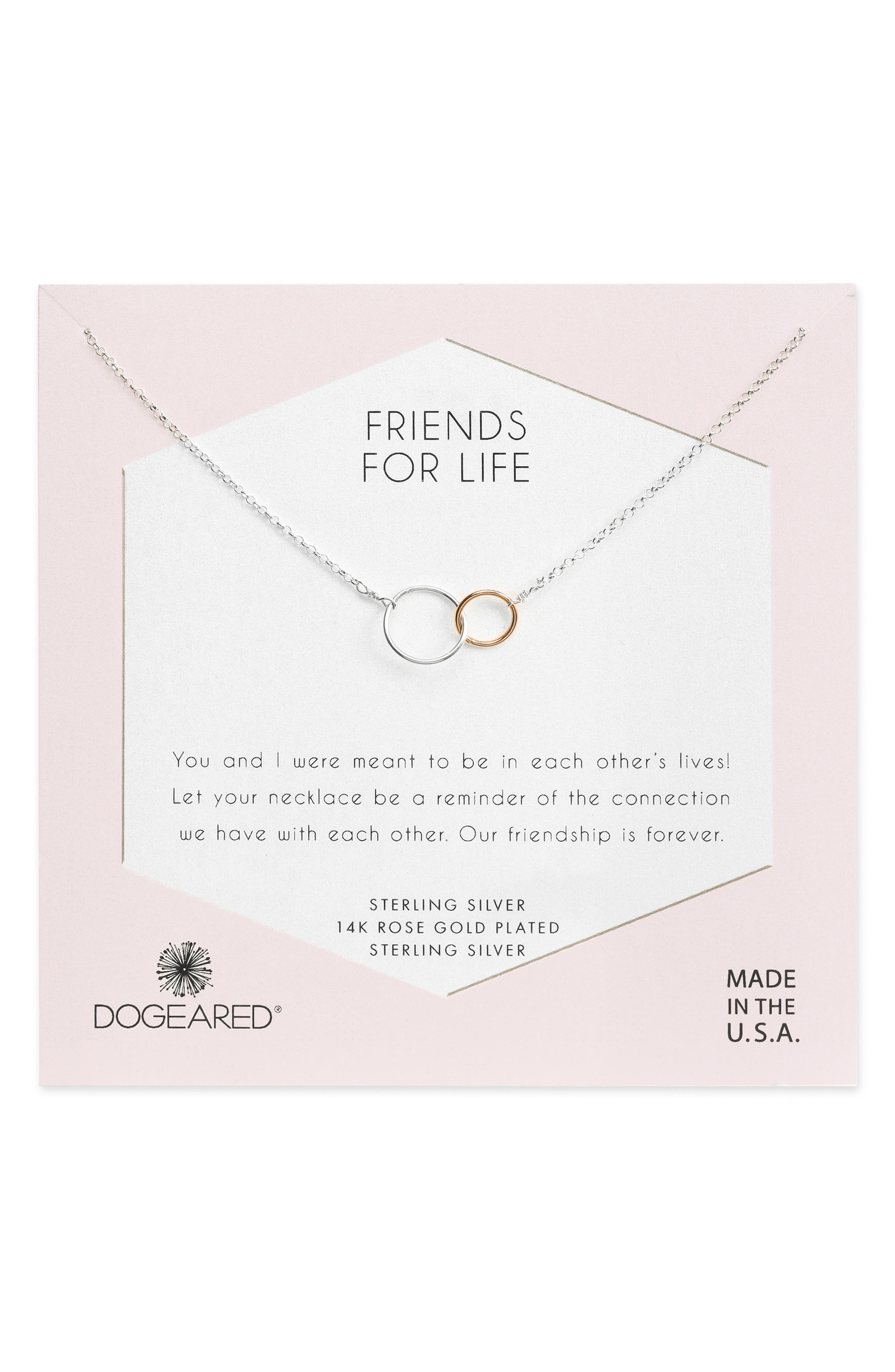 Friends for Life Necklace,                             Main thumbnail 1, color,