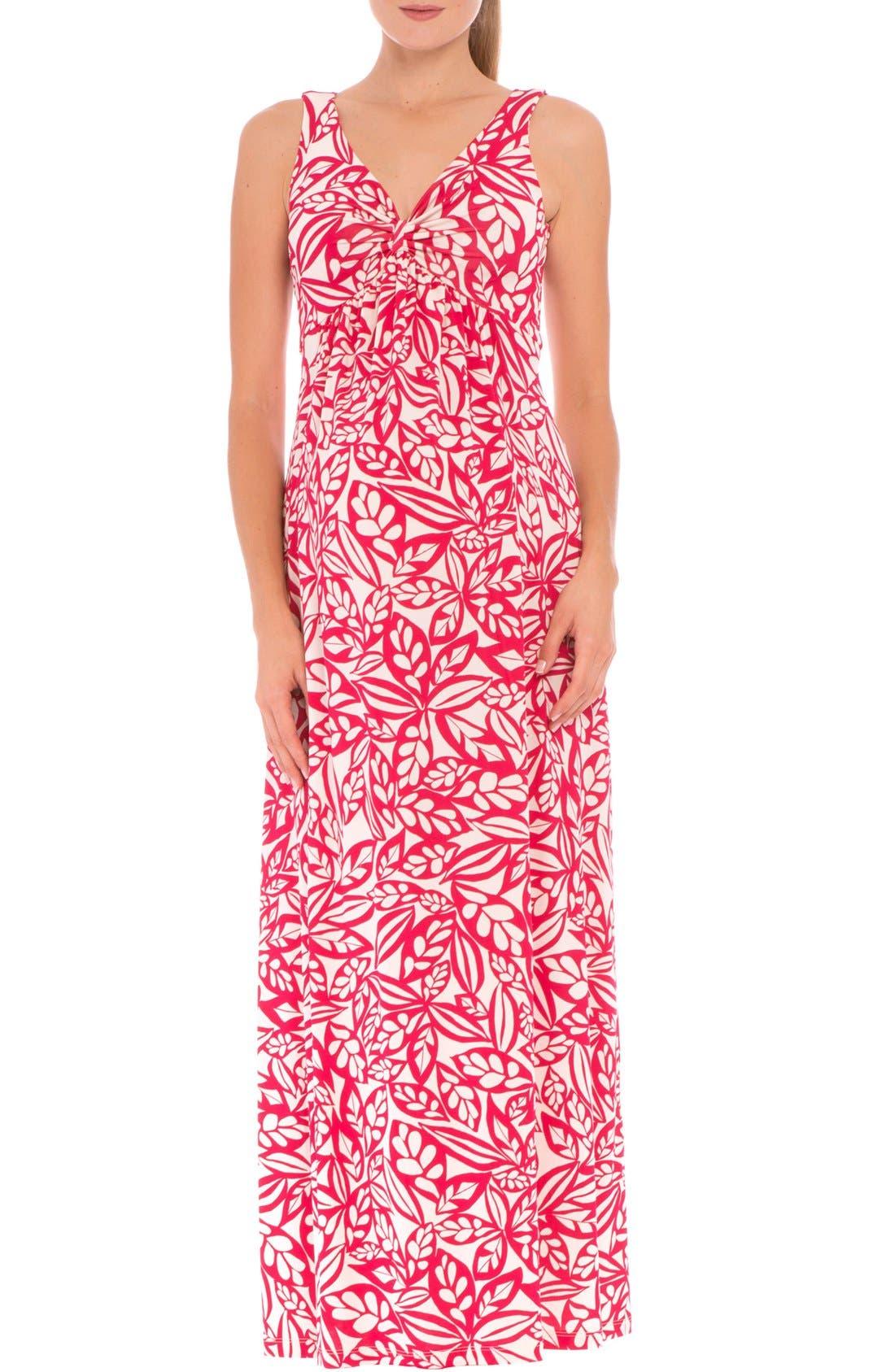 'Miranda' Maternity Maxi Dress,                             Main thumbnail 1, color,                             RED