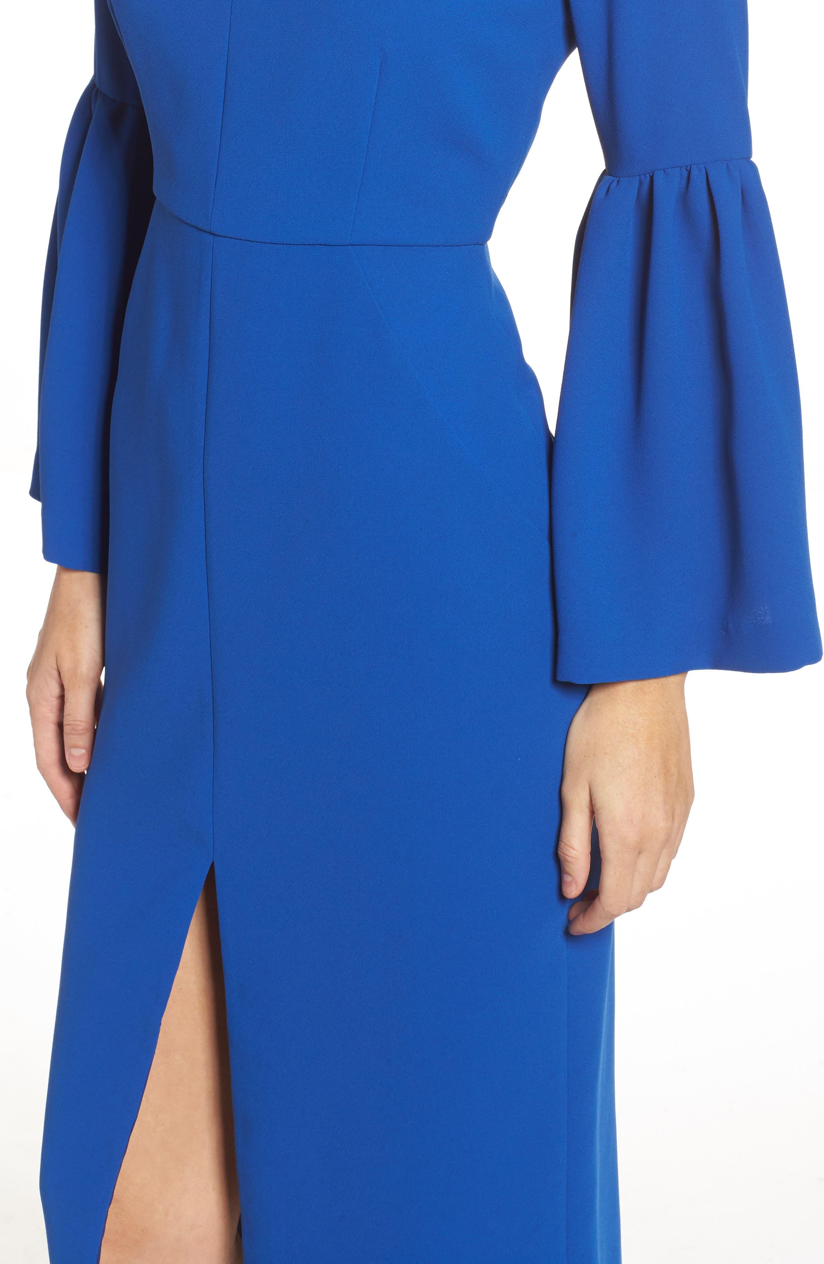 Bell Sleeve Dress,                             Alternate thumbnail 4, color,                             471