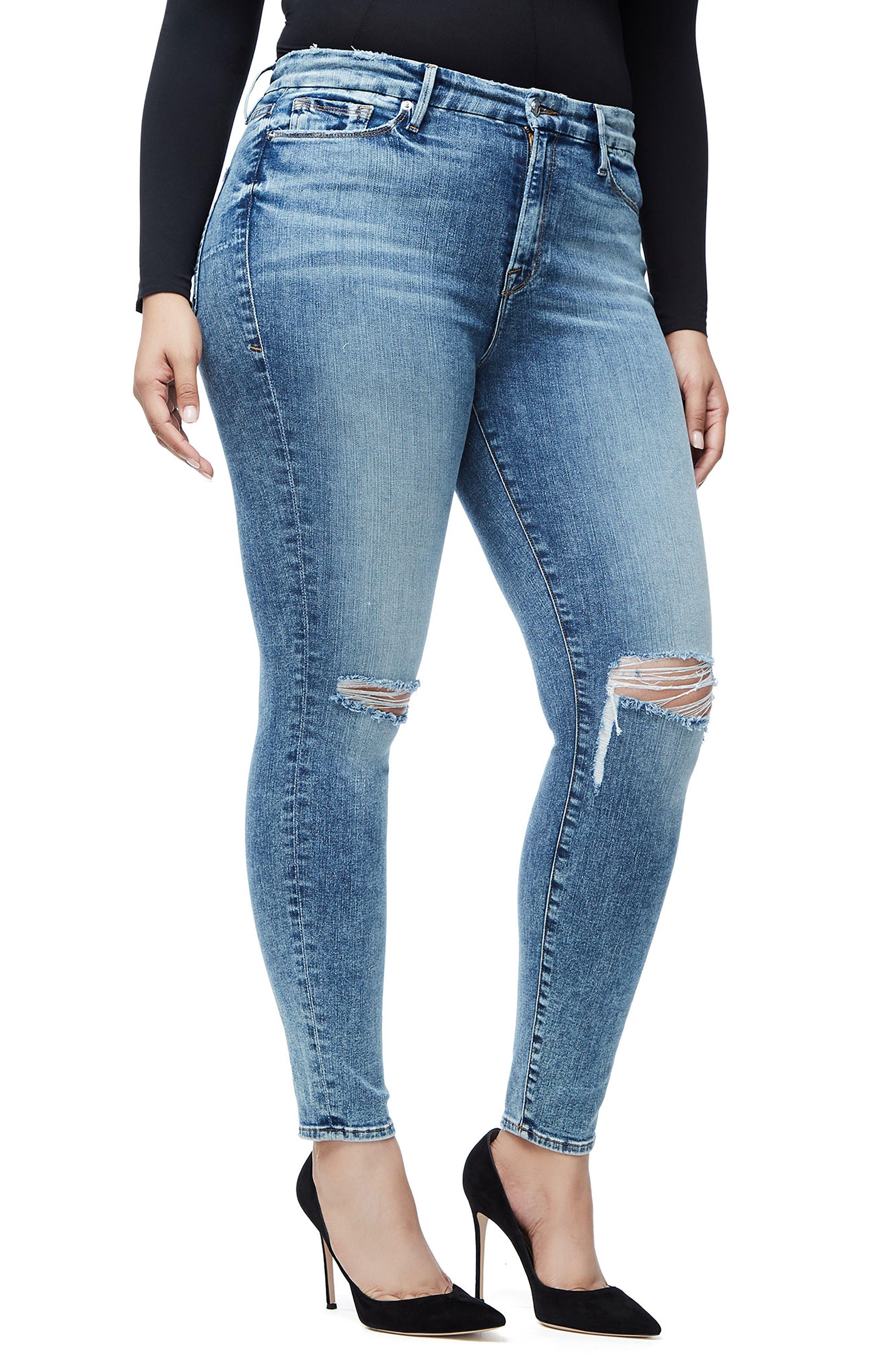 Good Legs High Waist Skinny Jeans,                             Alternate thumbnail 10, color,                             BLUE129