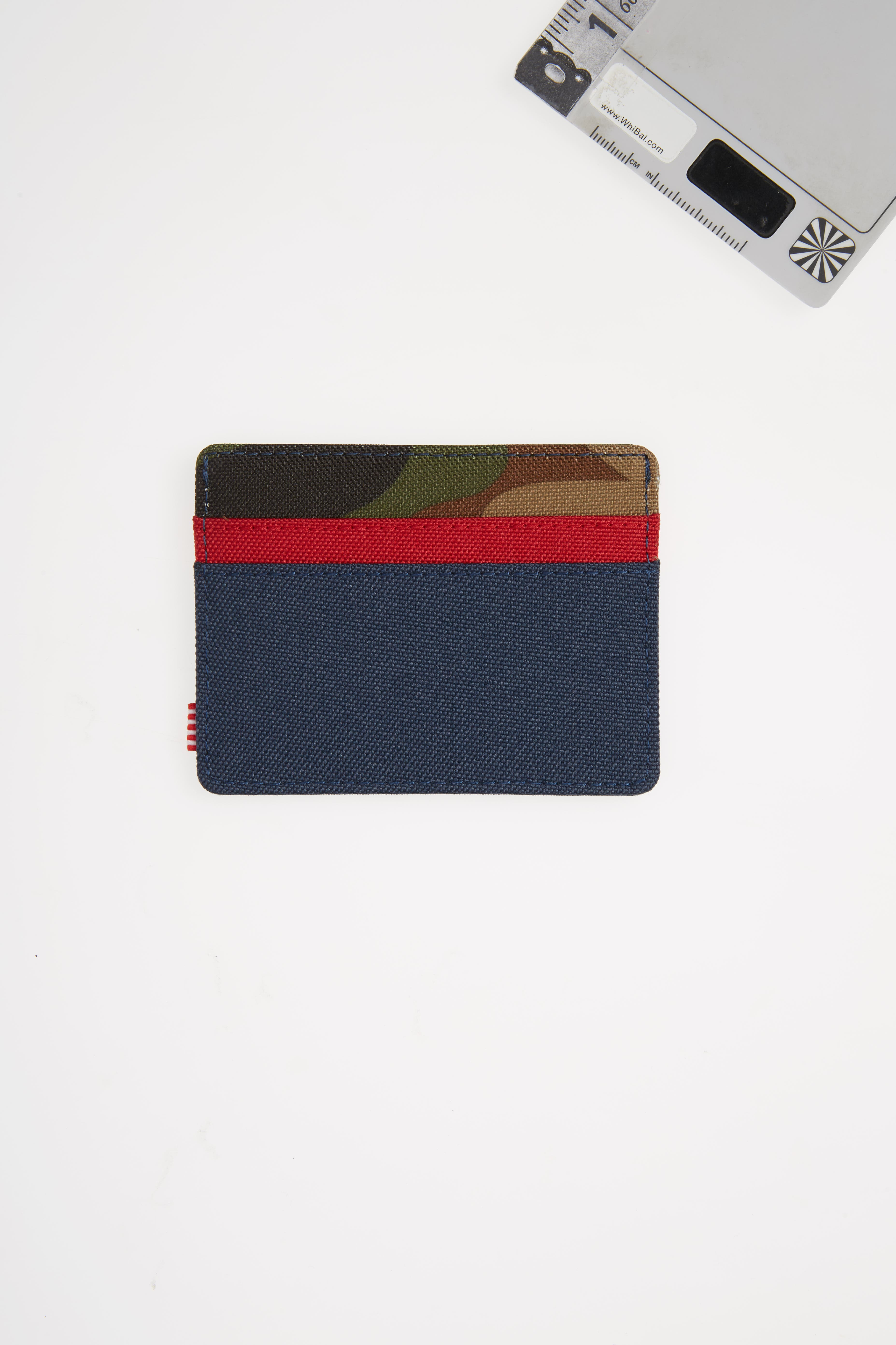 Charlie RFID Card Case,                             Alternate thumbnail 3, color,                             NAVY/ RED/ CAMO