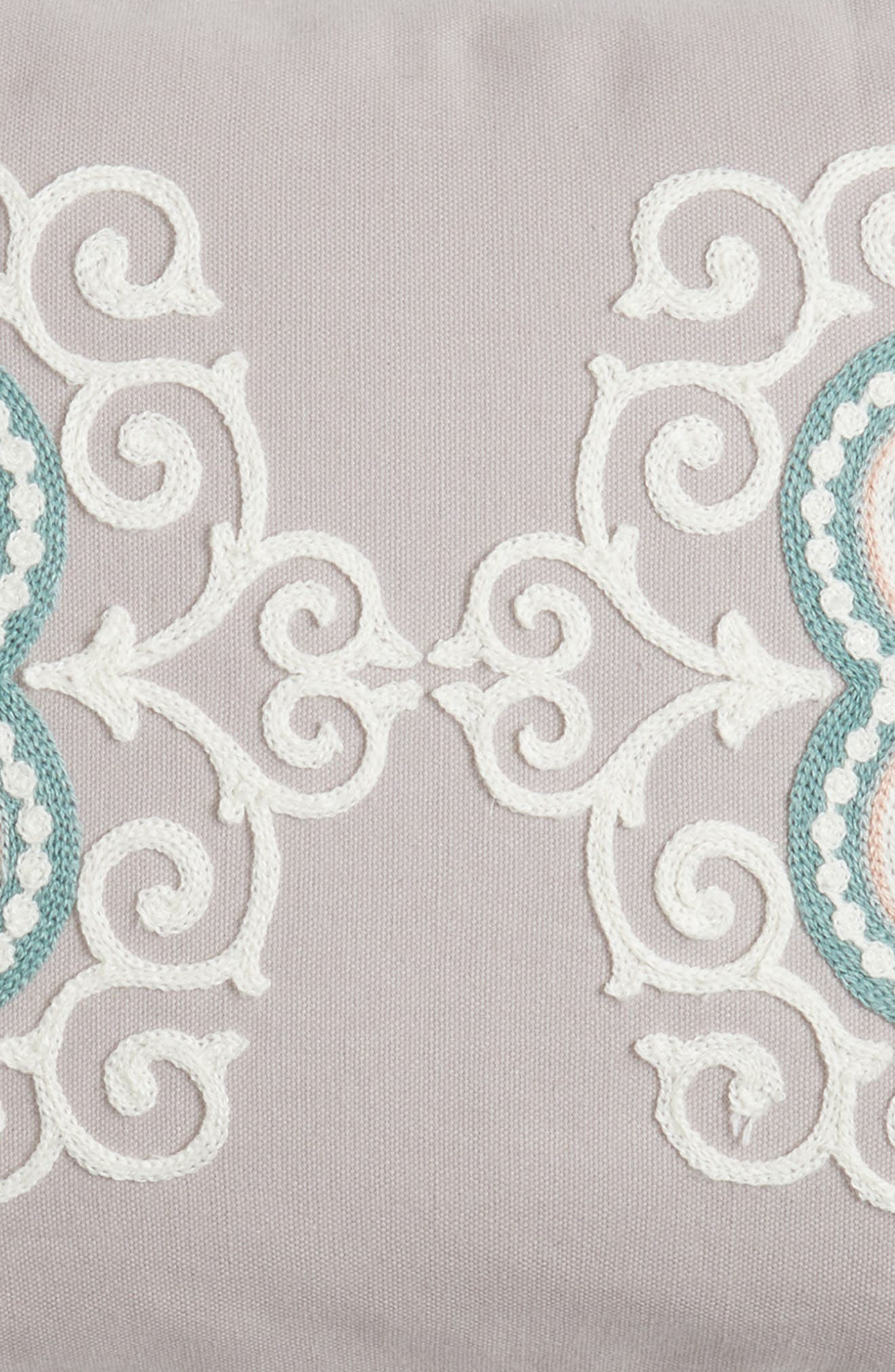 Addie Embroidered Tassel Pillow,                             Alternate thumbnail 3, color,                             020