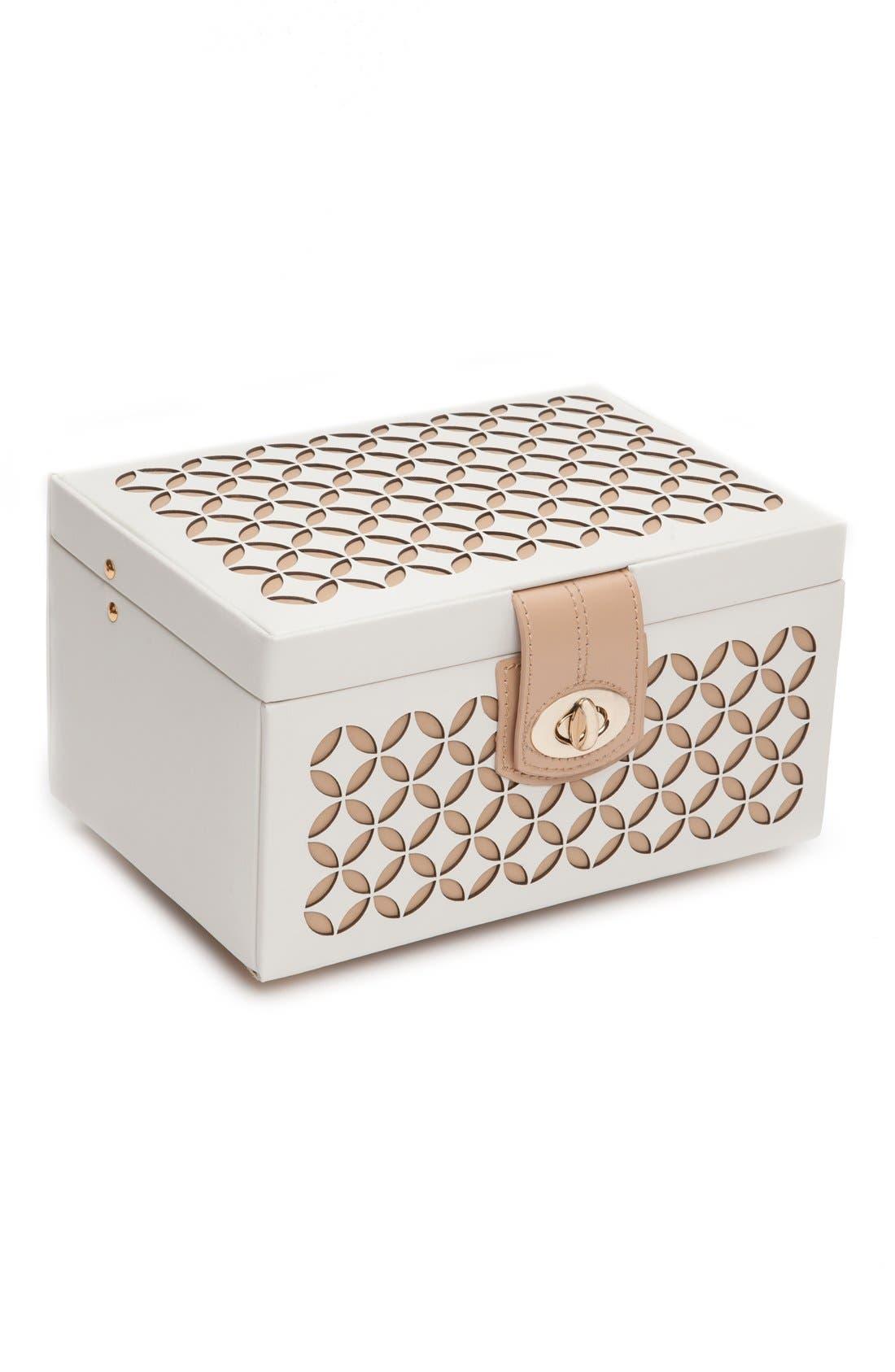 'Chloe' Jewelry Box,                             Alternate thumbnail 6, color,                             CREAM
