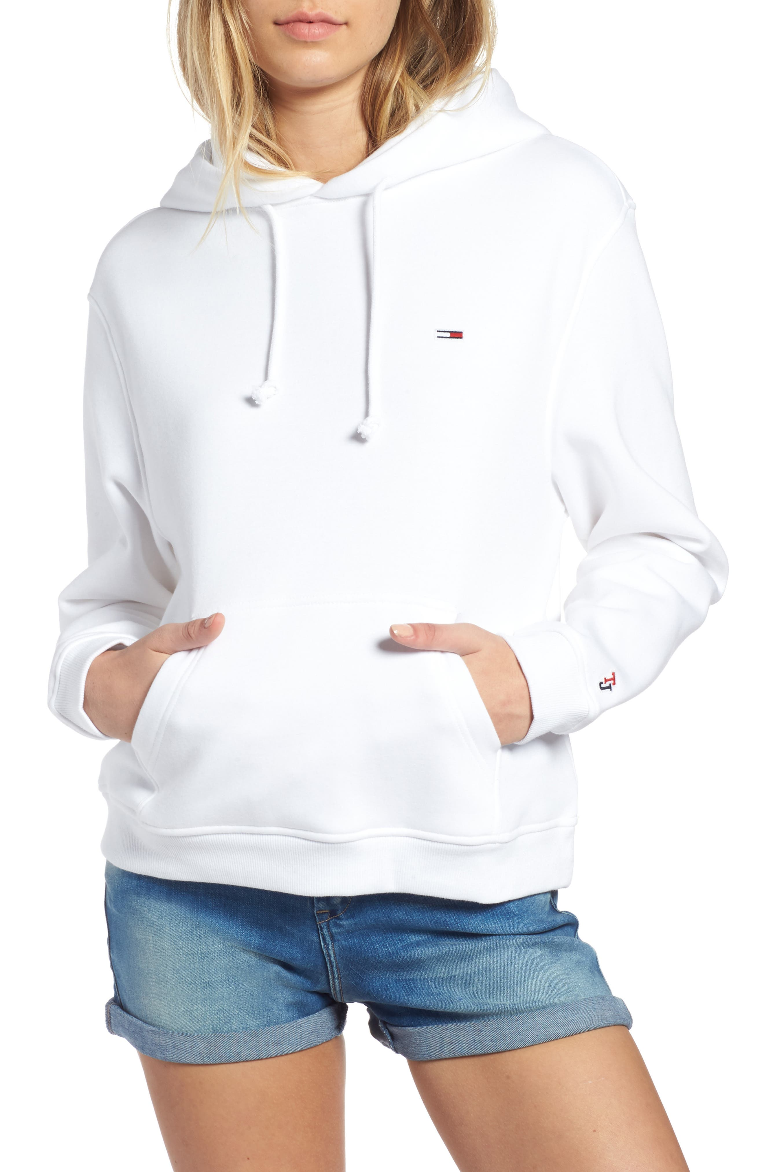 TJW Tommy Classics Hoodie,                         Main,                         color, BRIGHT WHITE