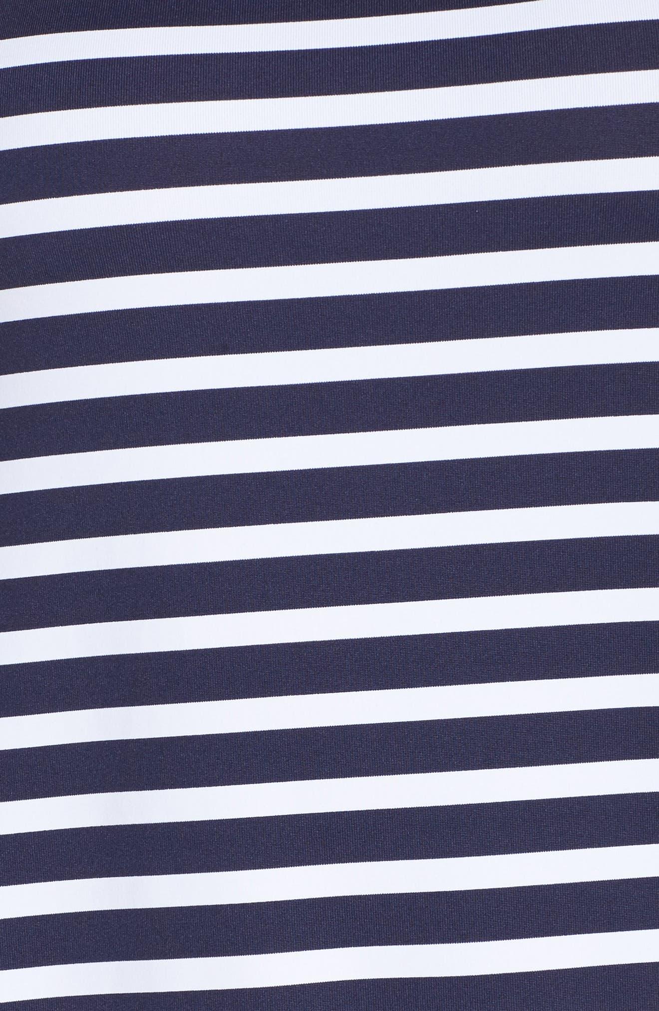 Breton Stripe Cover-Up Dress,                             Alternate thumbnail 5, color,                             MARE NAVY/ WHITE