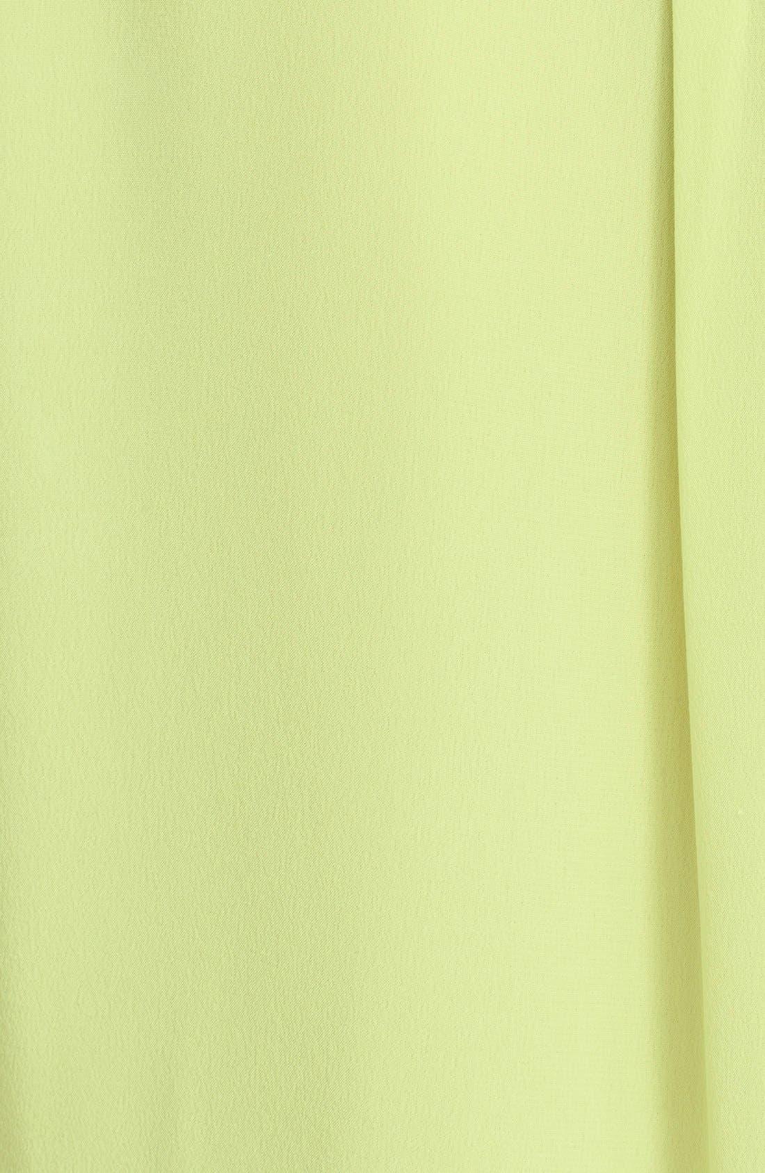 'Slim Signature' Sleeveless Silk Shirt,                             Alternate thumbnail 111, color,