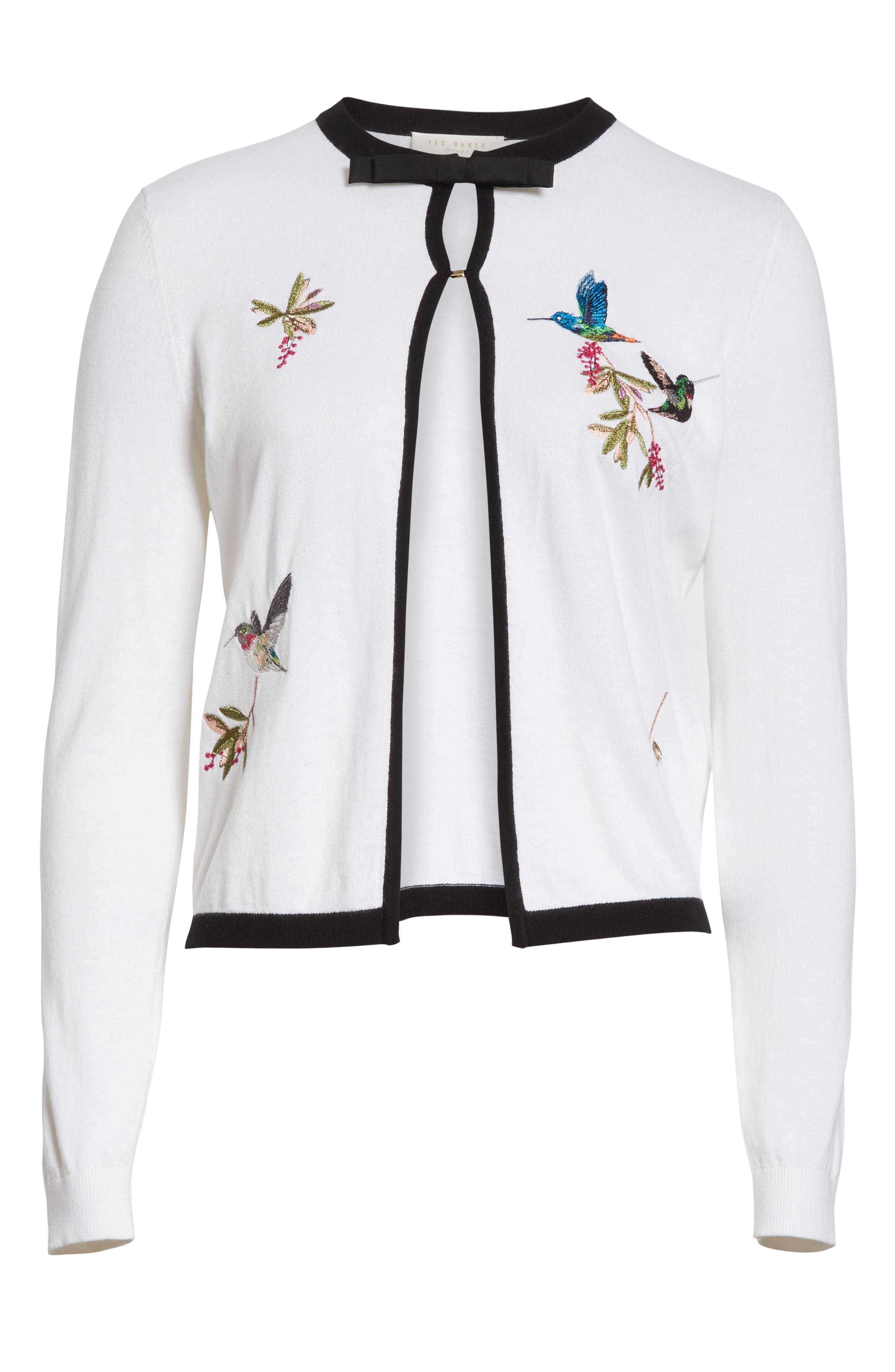 High Grove Embroidered Cardigan,                             Alternate thumbnail 6, color,