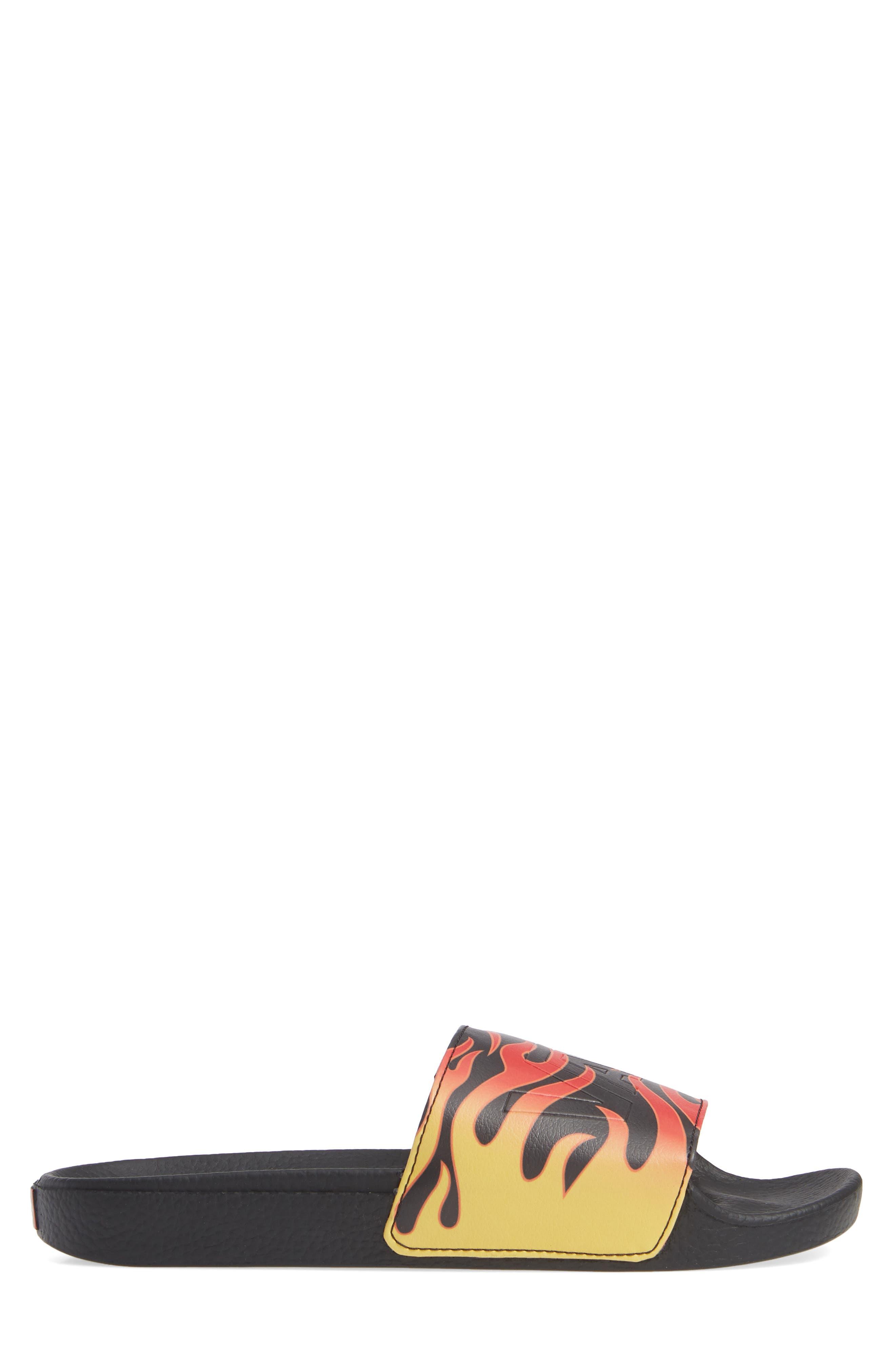 Slide-On Sandal,                             Alternate thumbnail 3, color,                             BLACK FLAME