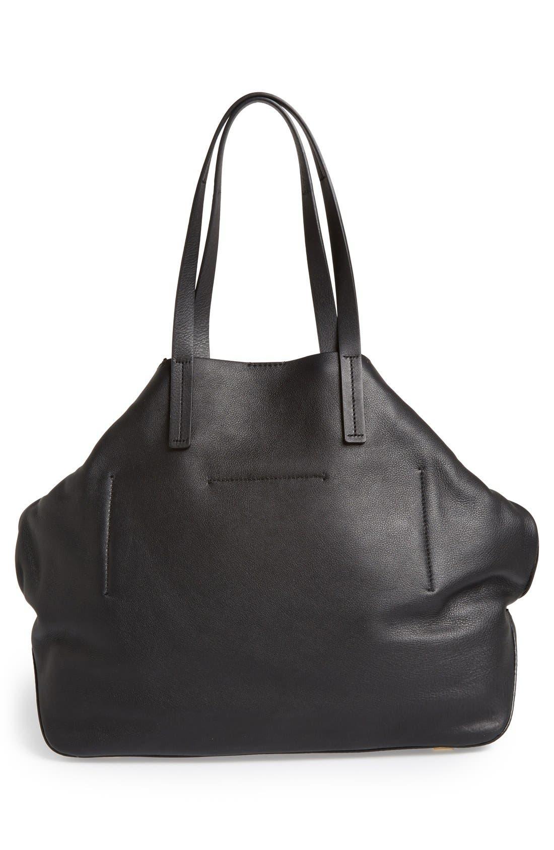 'Large Miranda' Leather Shopper,                             Alternate thumbnail 2, color,                             001